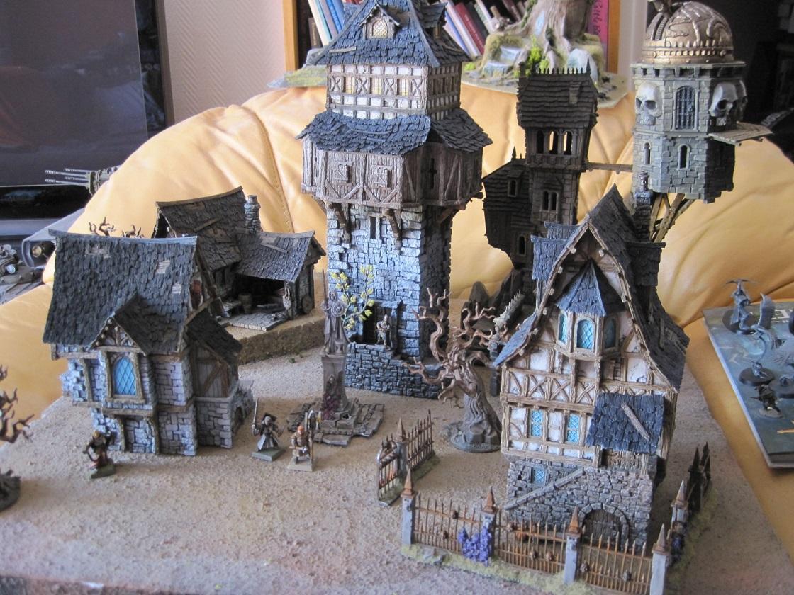 Old World, Tabletop World, Terrain, Tower, Village