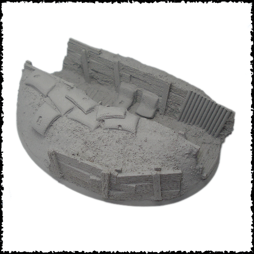 120mm, Astra Militarum, Base, Flying, Games Workshop, Imperial Guard, Oval, Resin, Trench, Warhammer 40,000