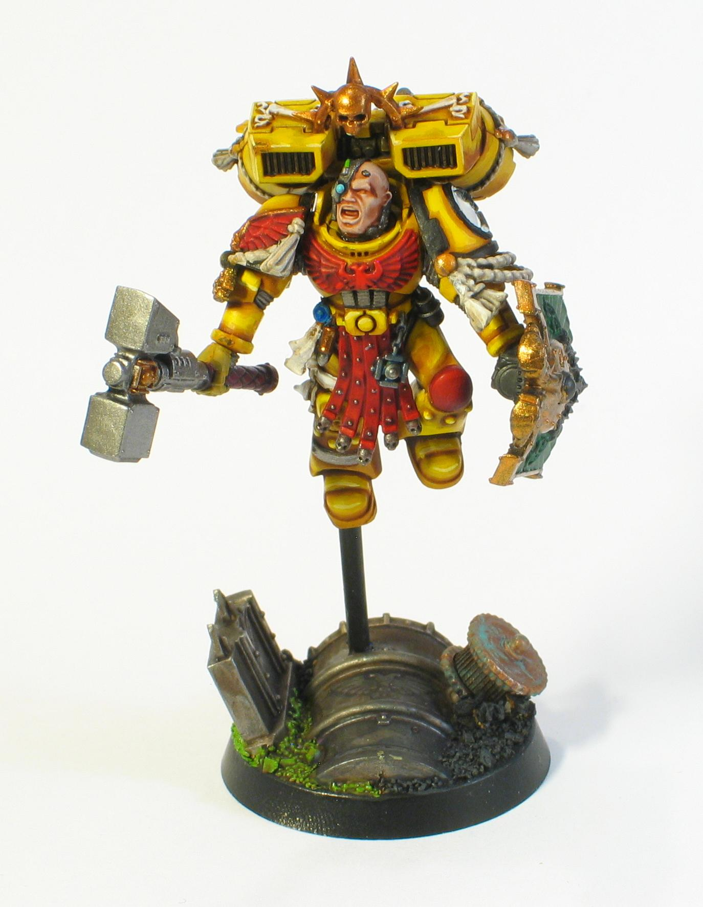 Captain, Character, Imperial Fists, Jump Pack, Space Marines, Thunder Hammer
