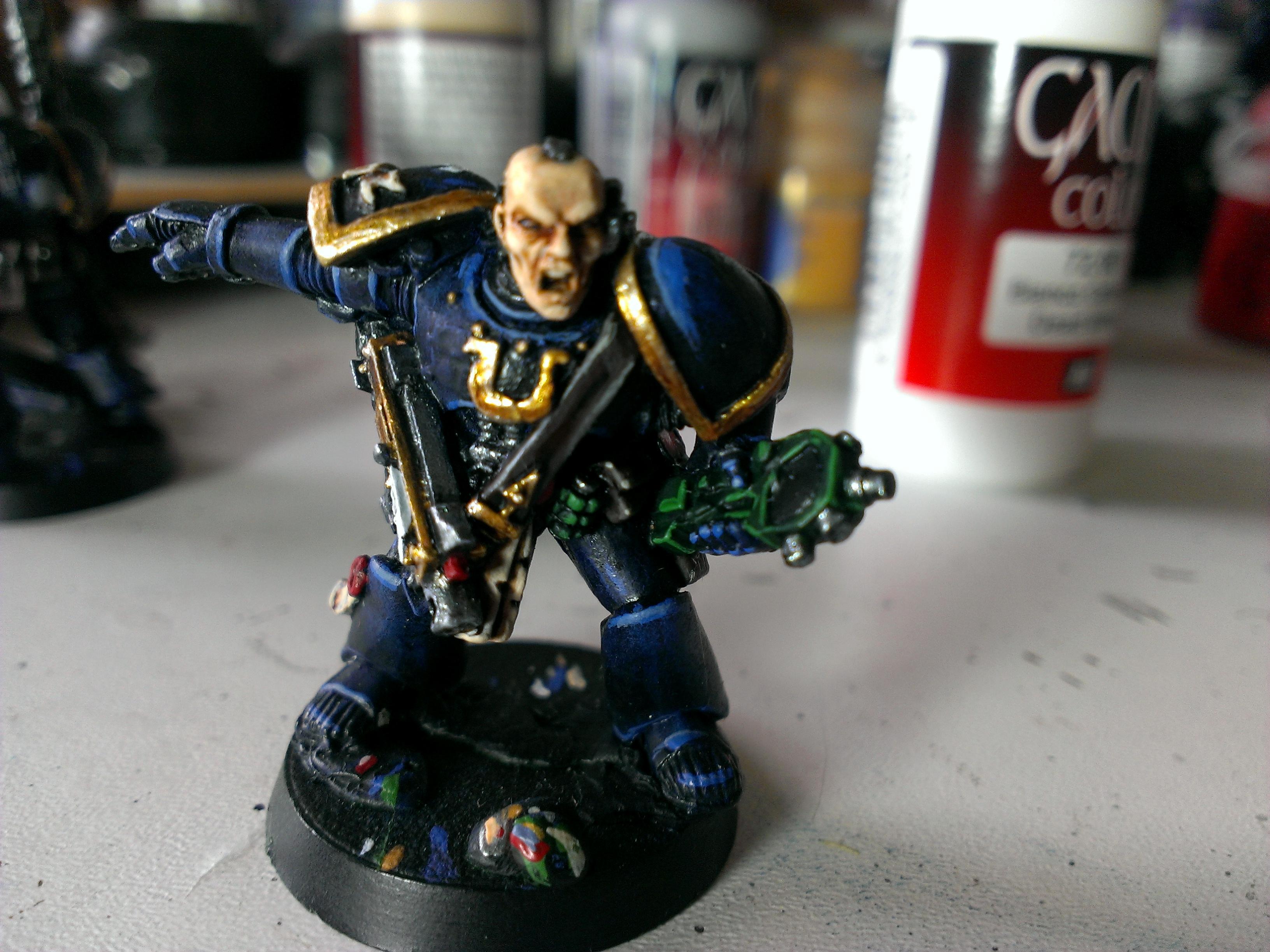 Lieutenant, Space Marines, Ultramarines, Work In Progress
