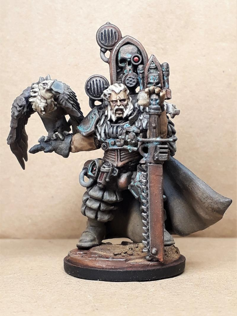 Astra Militarum, Company Commander, Dusty, Imperial Guard, Inquisition, Pigments, Rusty, Weathered