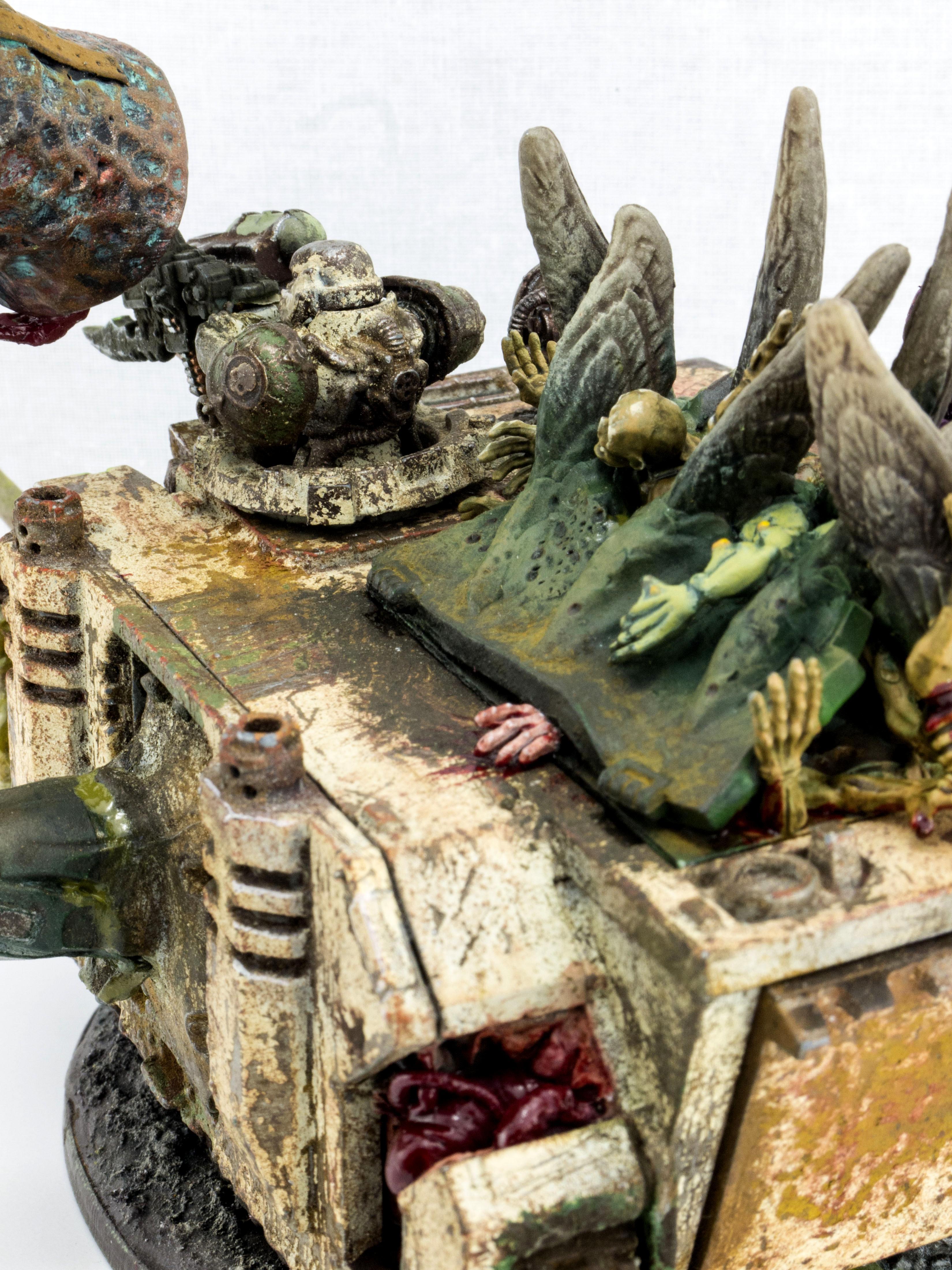 Bell, Death Chime, Death Guard, Dedicated Transport, Nurgle, Predator, Rhino, Tentacles, Zombie