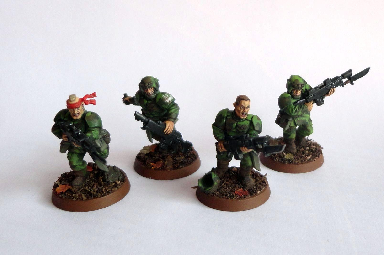 Astra Militarum, Bayonets, Cadians, Camouflage, Conversion, Imperial Guard, Infantry Squad