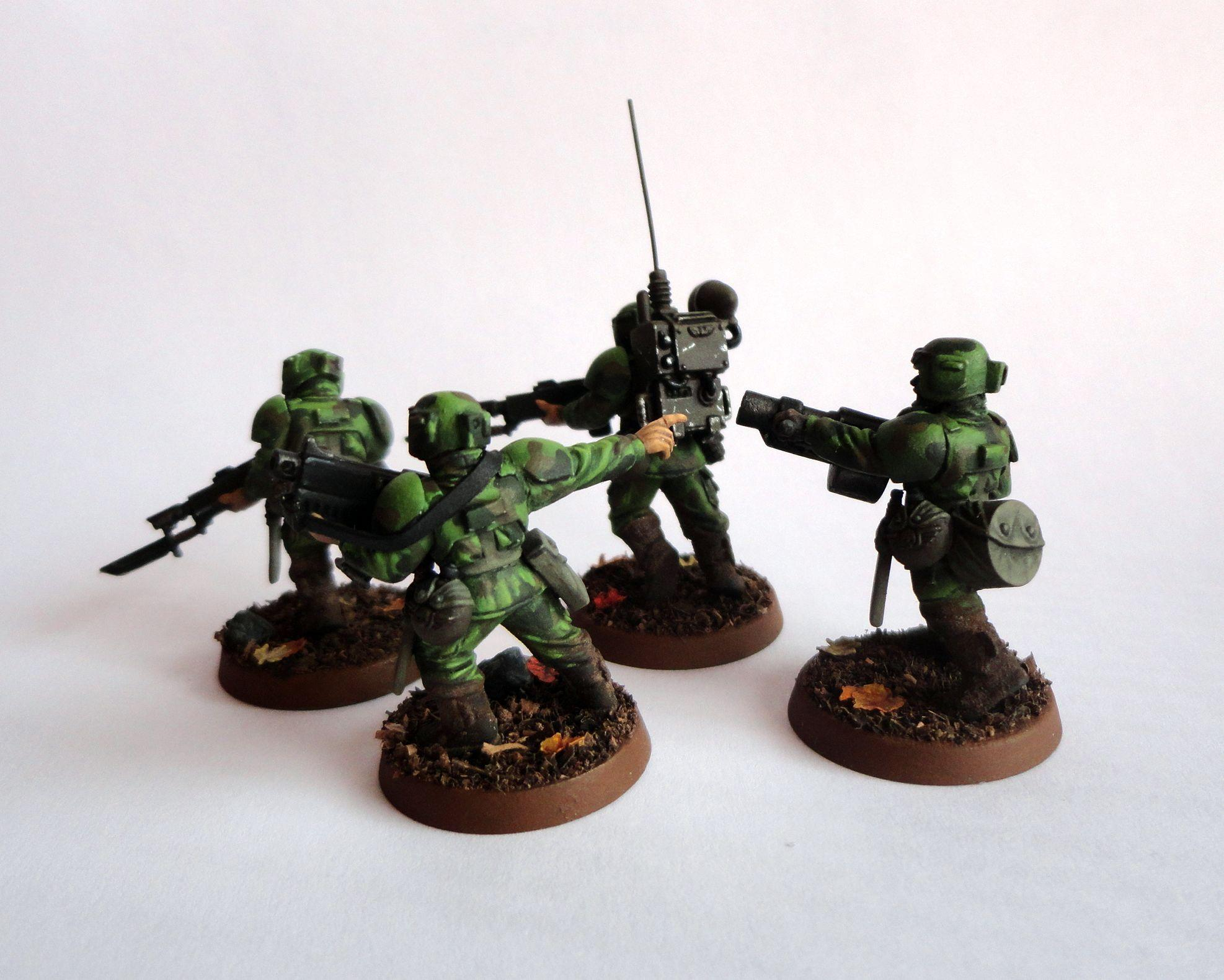 Astra Militarum, Cadians, Camouflage, Conversion, Imperial Guard, Infantry Squad, Vox