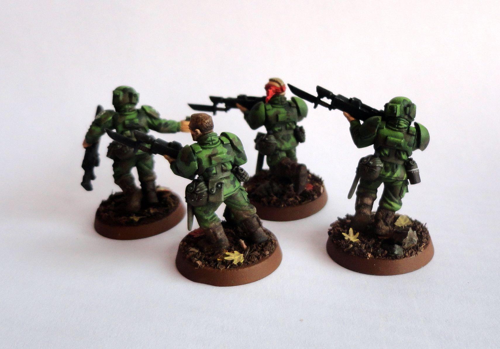 Astra Militarum, Cadians, Camouflage, Imperial Guard, Infantry Squad