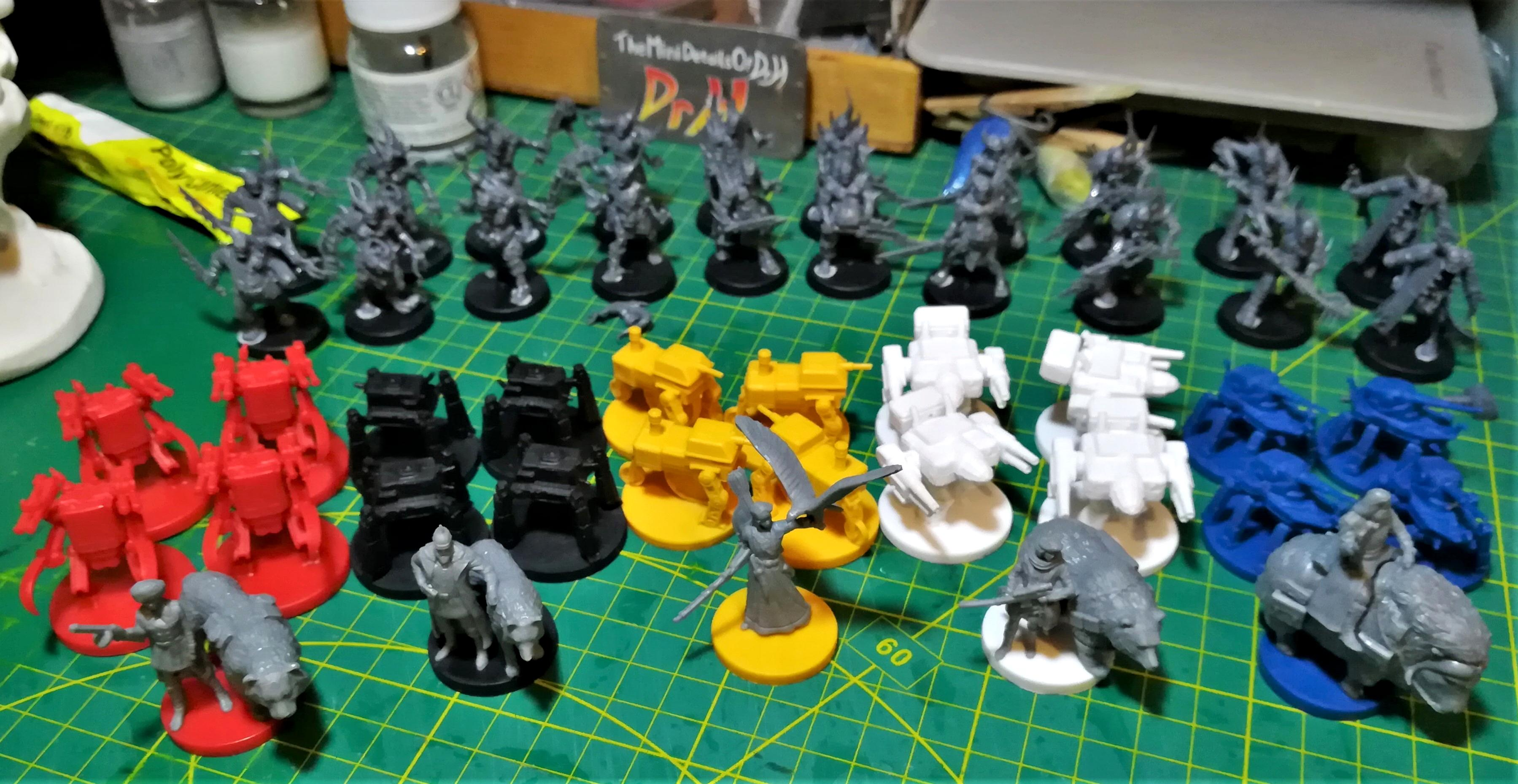 Next projects on the table; pox walkers and Scythe figures