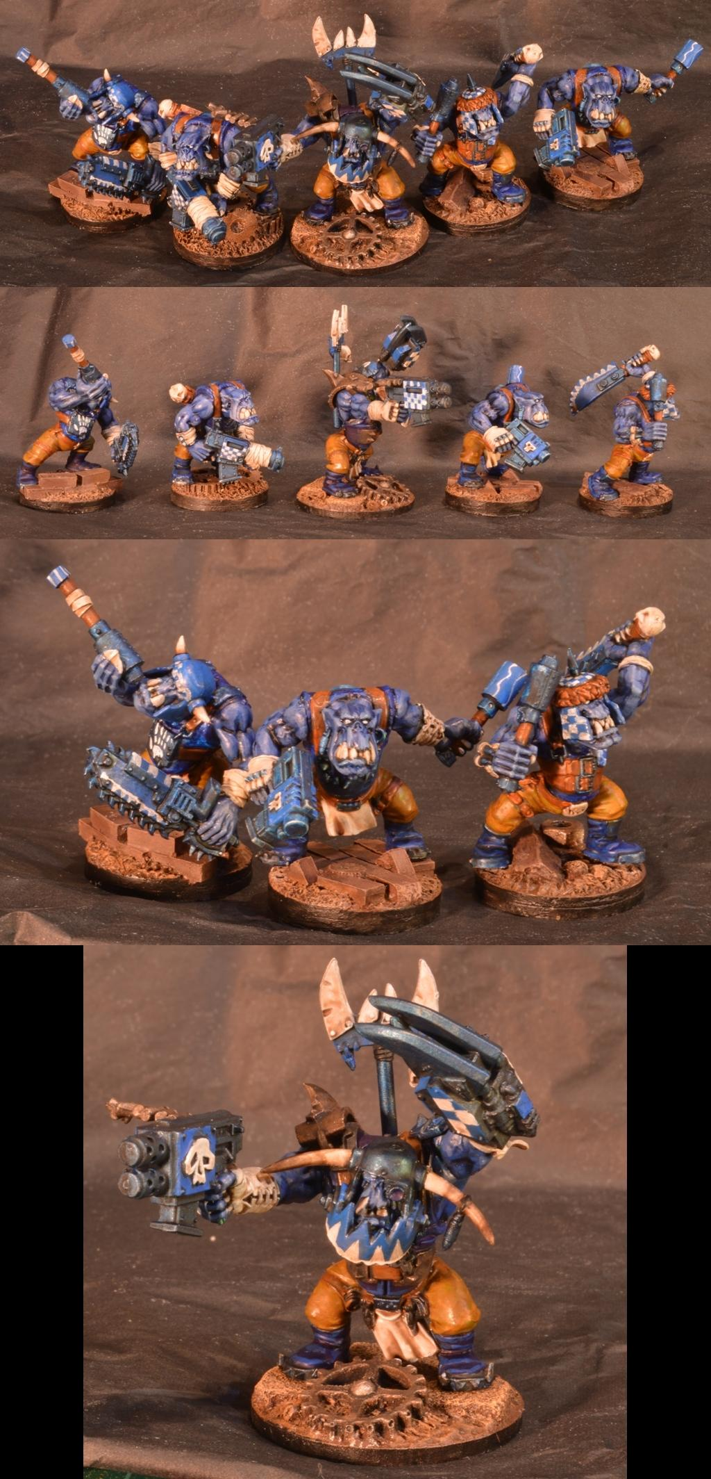 Blue, Blue Skin, Deathskulls, Orks
