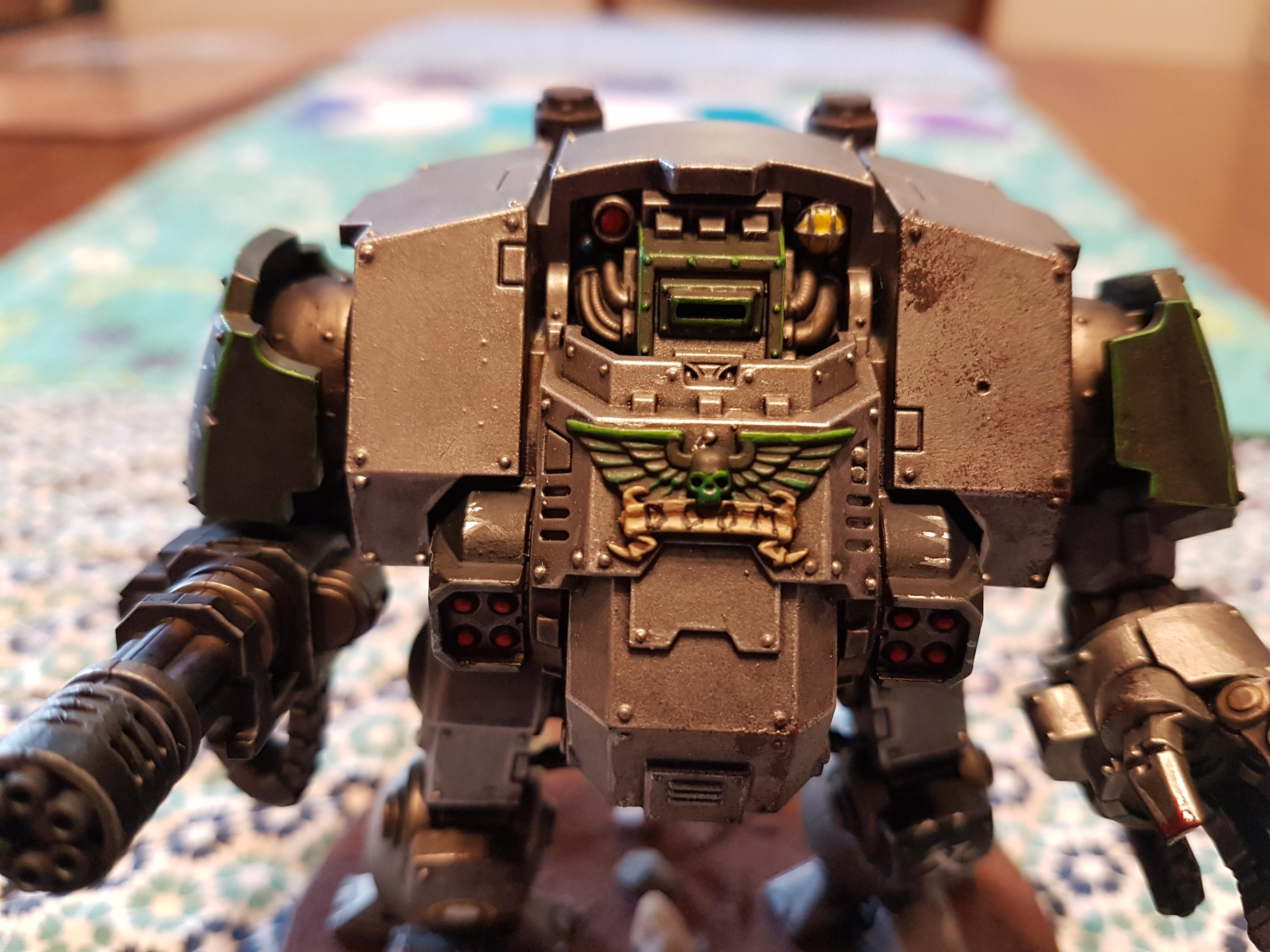 Black, Doom, Doom Legion, Dreadnought, Fragstrom Grenade Launcher, Green, Heavy Flammer, Heavy Onslaught Catling Cannon, Iron, Legion, Metal, Primaris, Redemptor, Redemptor Dreadnought, Redmptor Fist, Silver, Space Marines