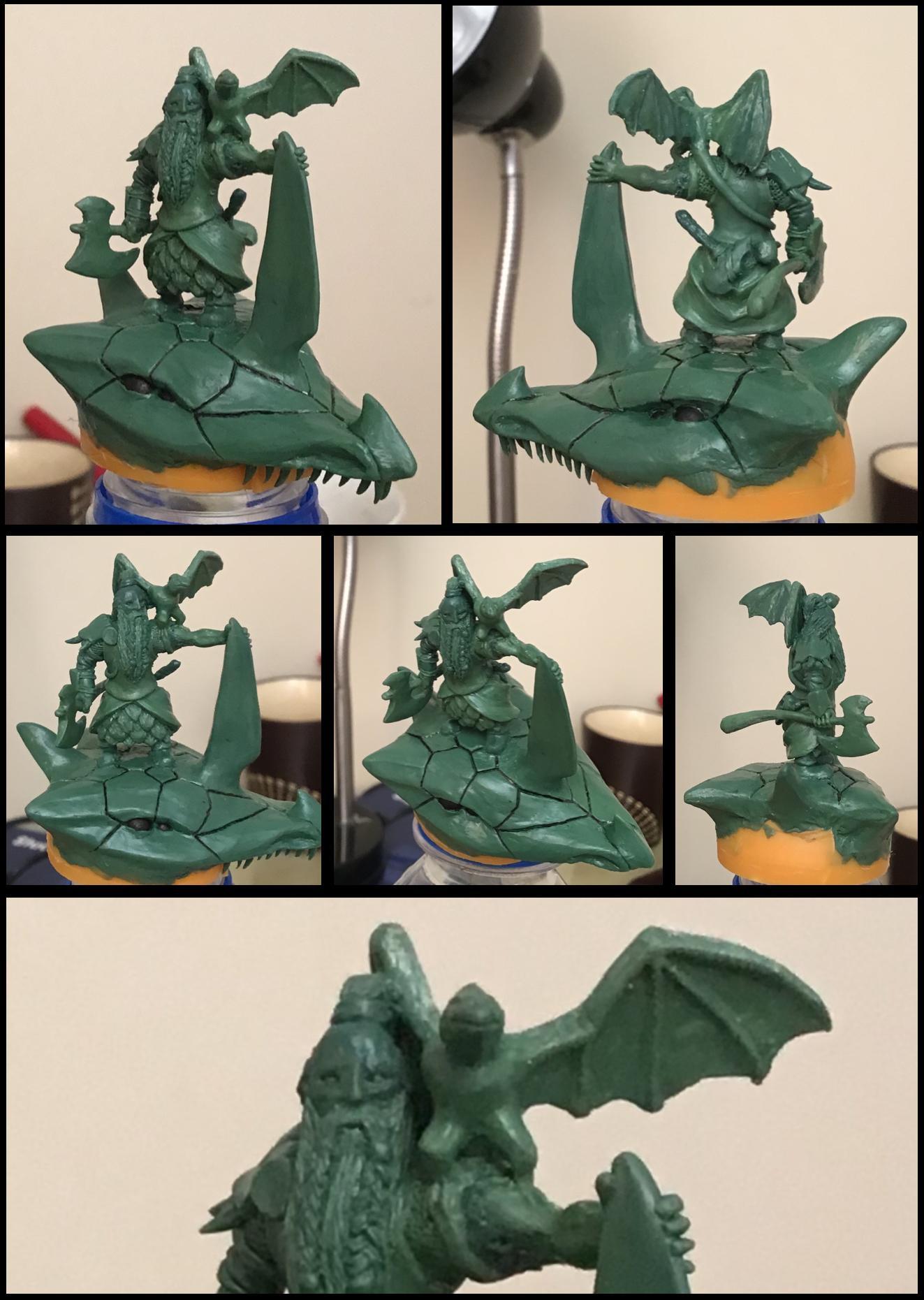 Dragon, Dwarves, Greenstuff, Sculpture, Warhammer Fantasy