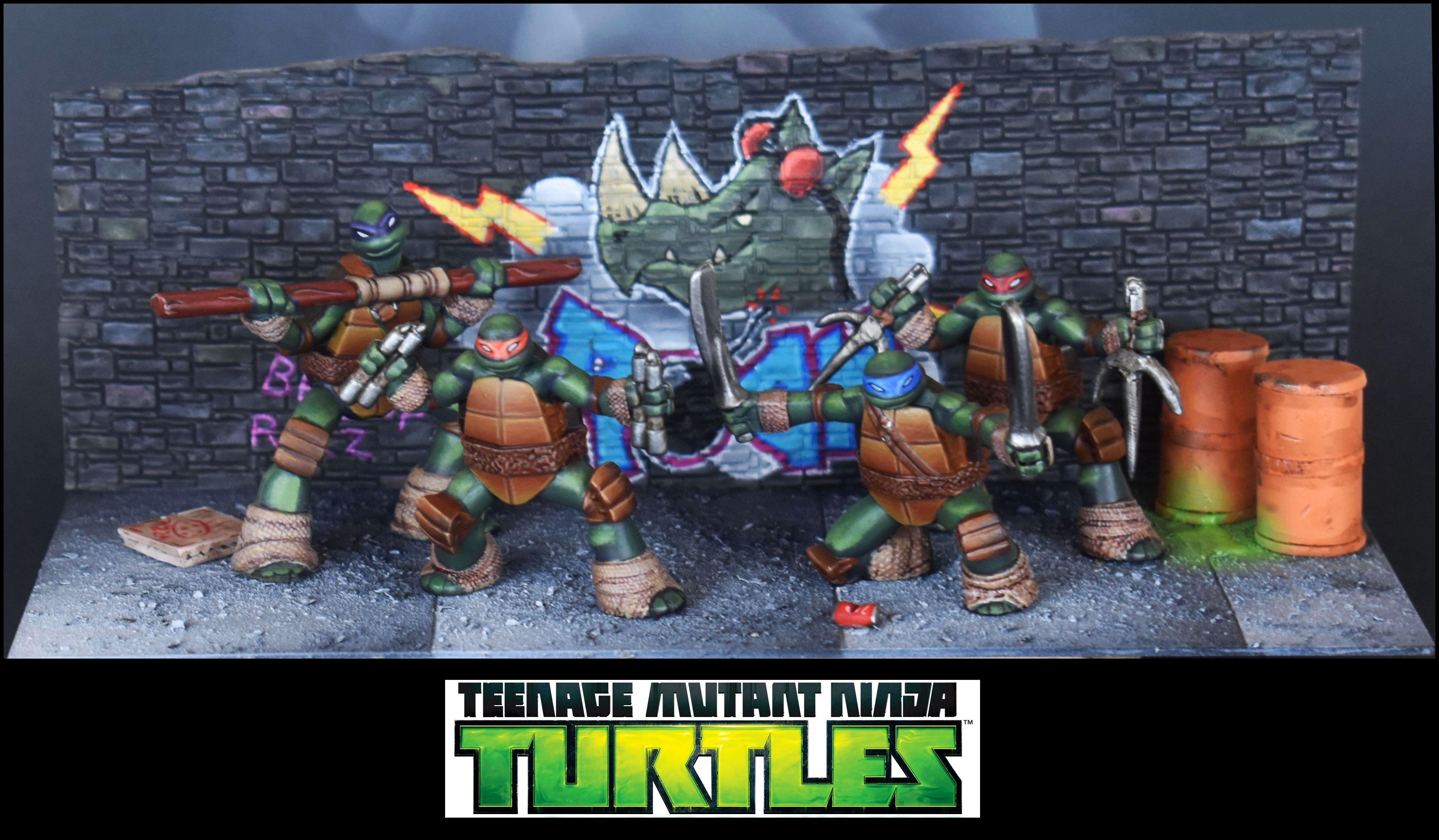 Diorama, Donatello, Leonardo, Michelangelo, Mutant, Ninjas, Raphael, Scratch Build, Set, Teenage, Tmnt, Toy, Turtles