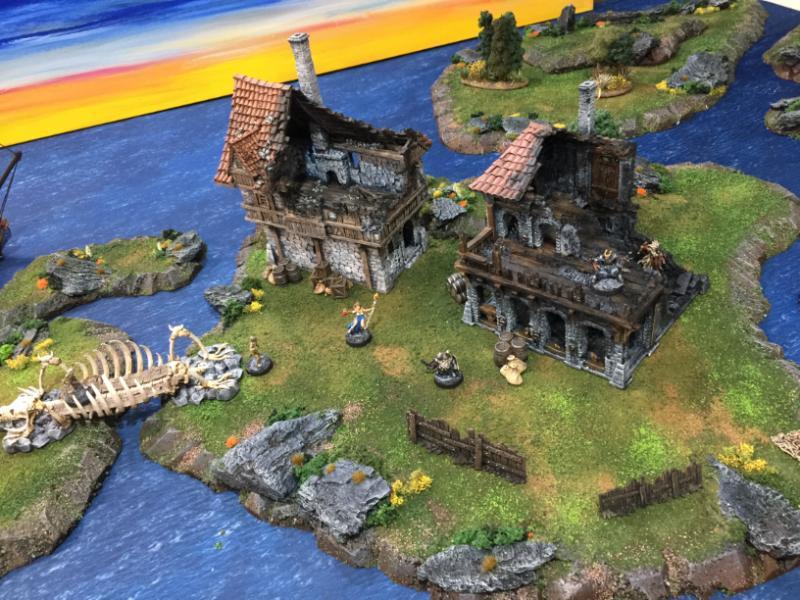 Island, Ruins, Terrain