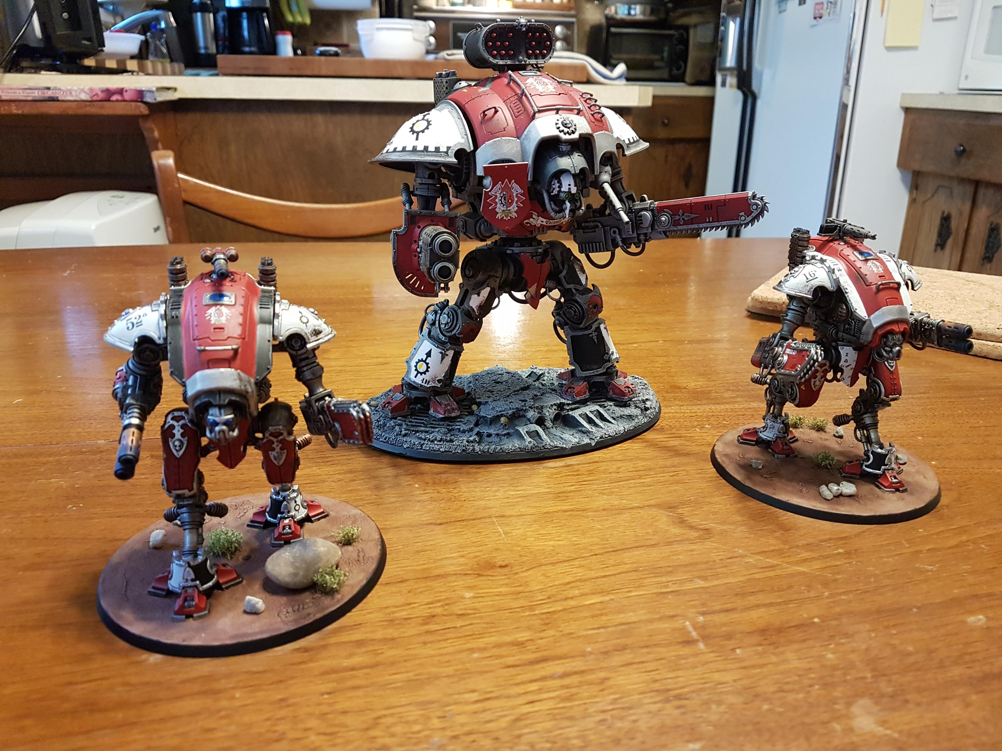 Armiger, Armiger Warglaives, Black, Heavy Stubber, House Taranis, Imperial, Imperial Knights, Knight Errant, Knights, Meltagun, Reaper Chain-cleaver, Red, Taranis, Thermal Spear, Warglaives, White
