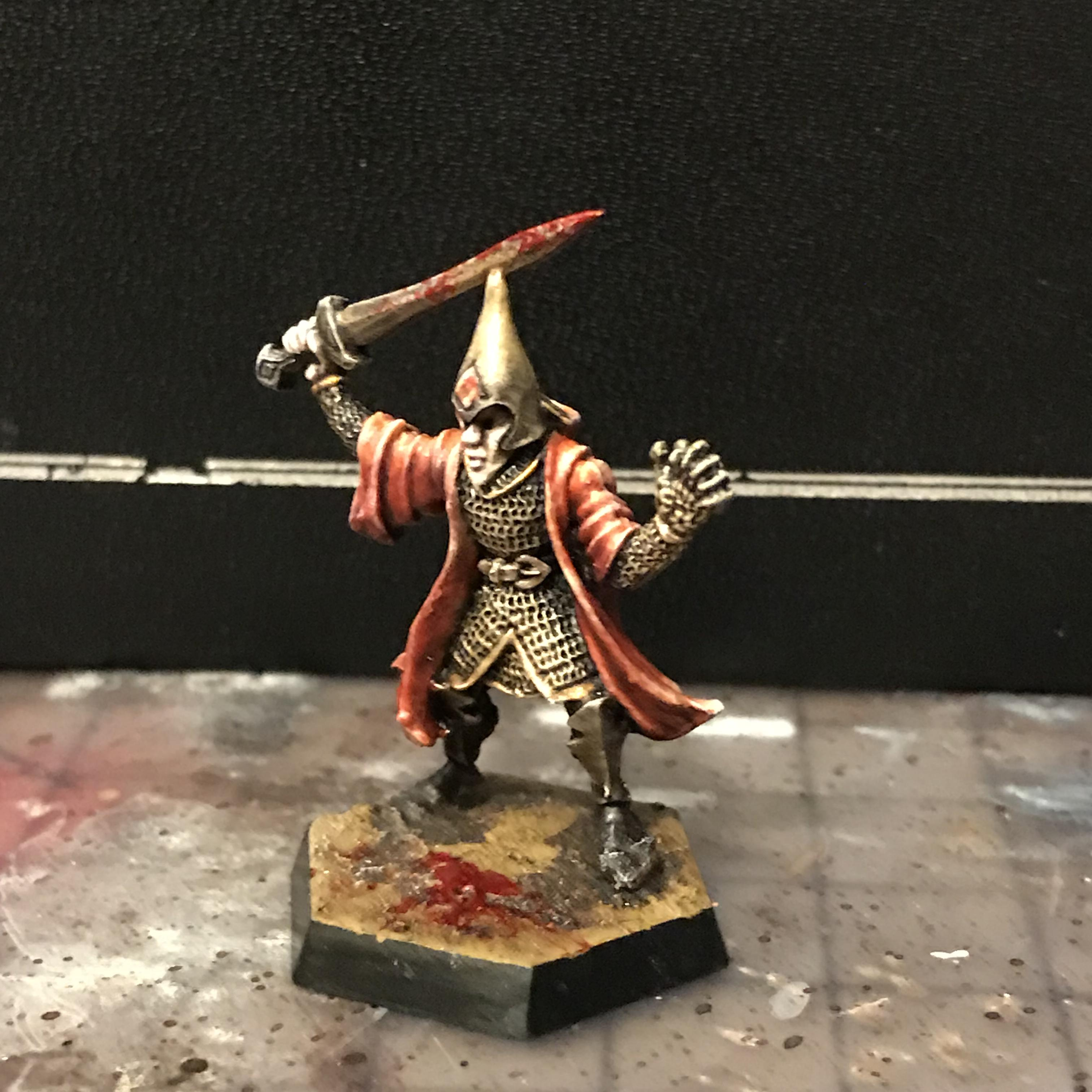 Champion, Chaos, Citadel, Corum, Eternal, Fj, Hand, In, Irsei, Jhaelen, Mage, Mini, Miniature, Moorcock, Oldhammer, Prince, Robe, Roleplay, Scarlet, Silver, Sorcerer, The, Vadhagh, Warhammer Fantasy, With, Wizard