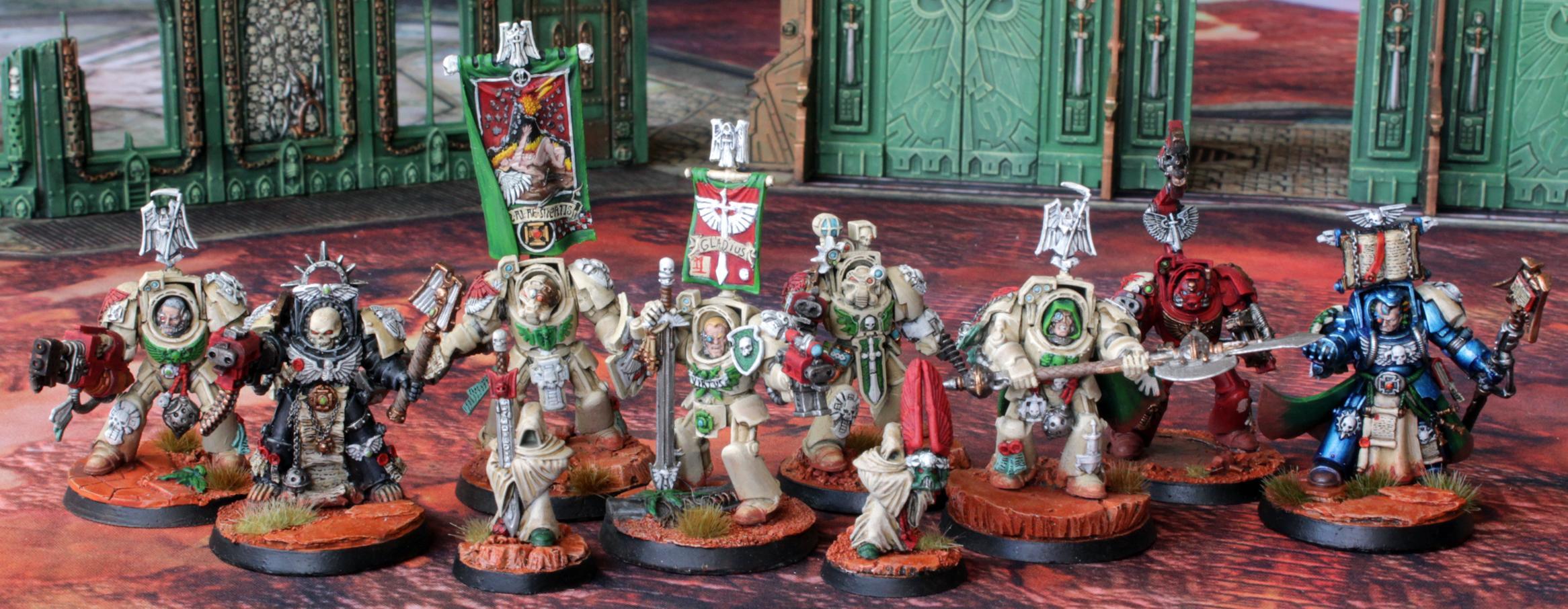 Ancient, Apothicary, Archivist, Banner, Champion, Chaplain, Dark Angels, Deathwing, First Company, Imperium, Inner Circle, Space Marines, Techmarine, Terminator Armor