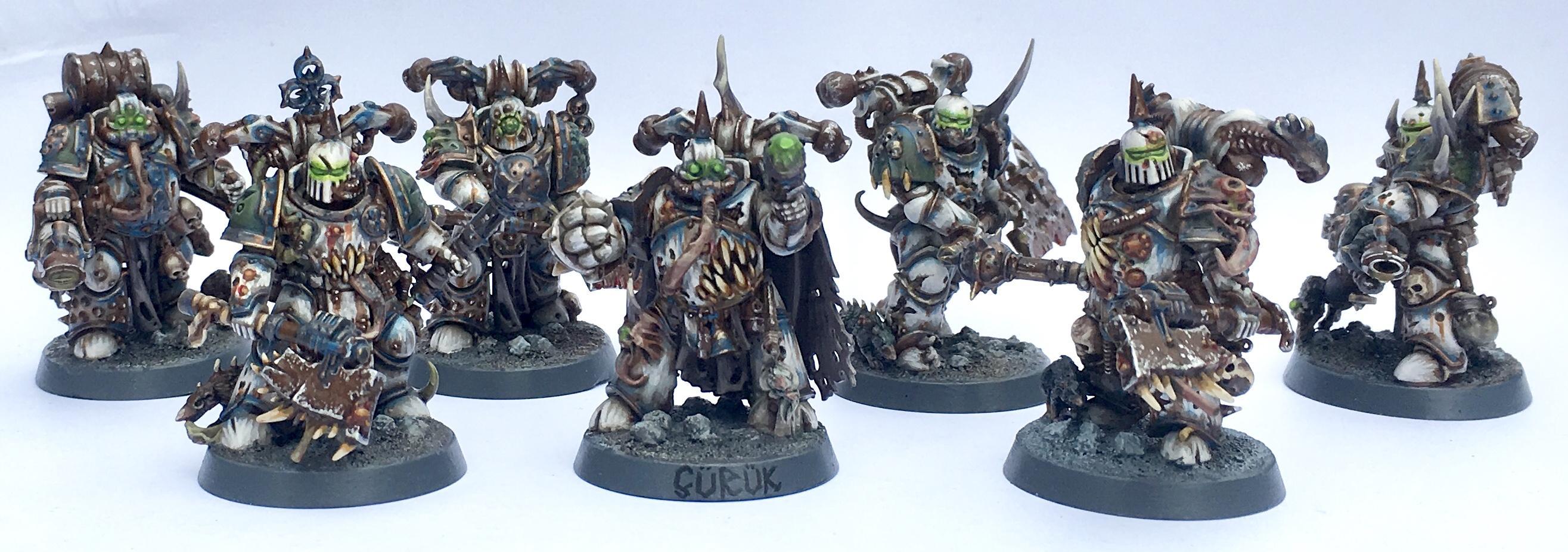 Chaos, Chaos Space Marines, Death Guard, Nurgle, Plague Marines