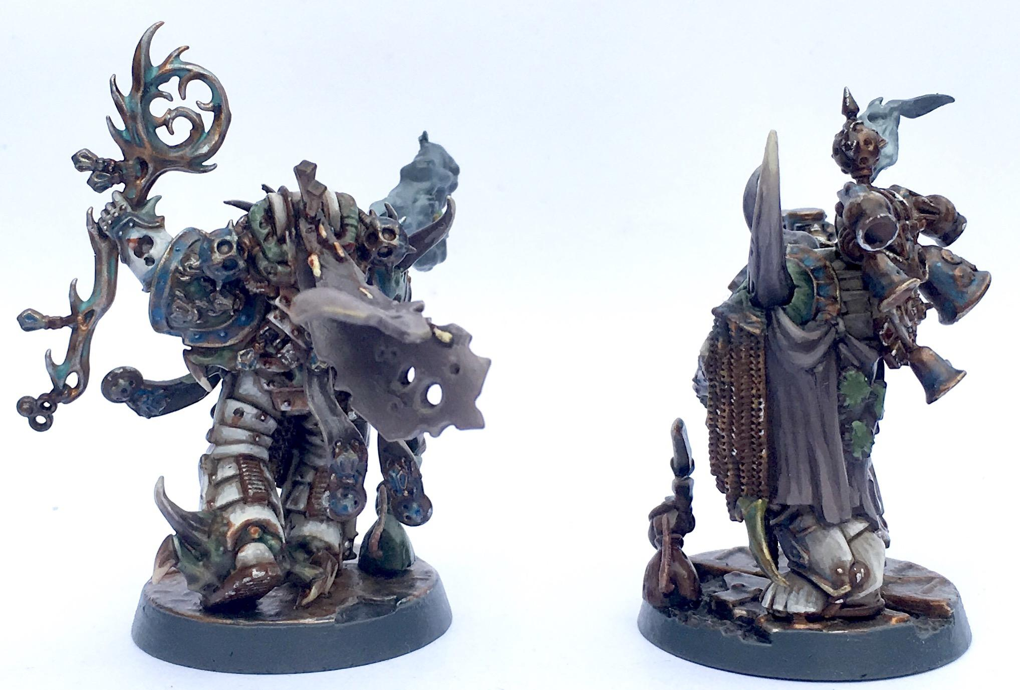 Chaos, Chaos Lord, Chaos Space Marines, Death Guard, Malignant Plaguecaster, Nurgle, Plaguecaster