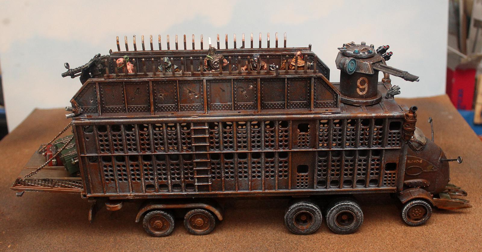Ash Waste, Mad Max, Necromunda, Truck, Wastelands