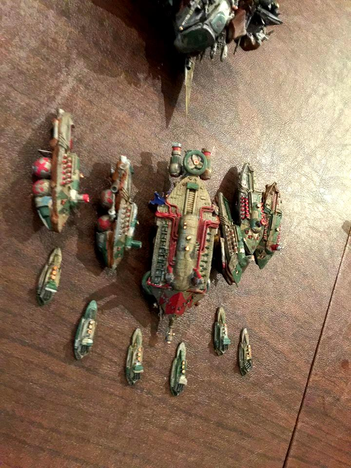 Battlefleet Gothic, Orks, Scratch Build, Shroud Mages, Space Hulk, Toy, Uncharted Seas