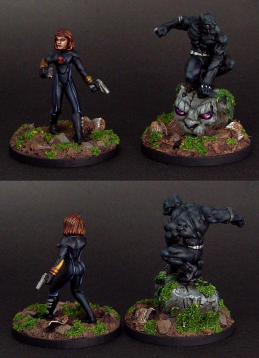 Black Panther, Black Widow, Heroclix, Super Heroes