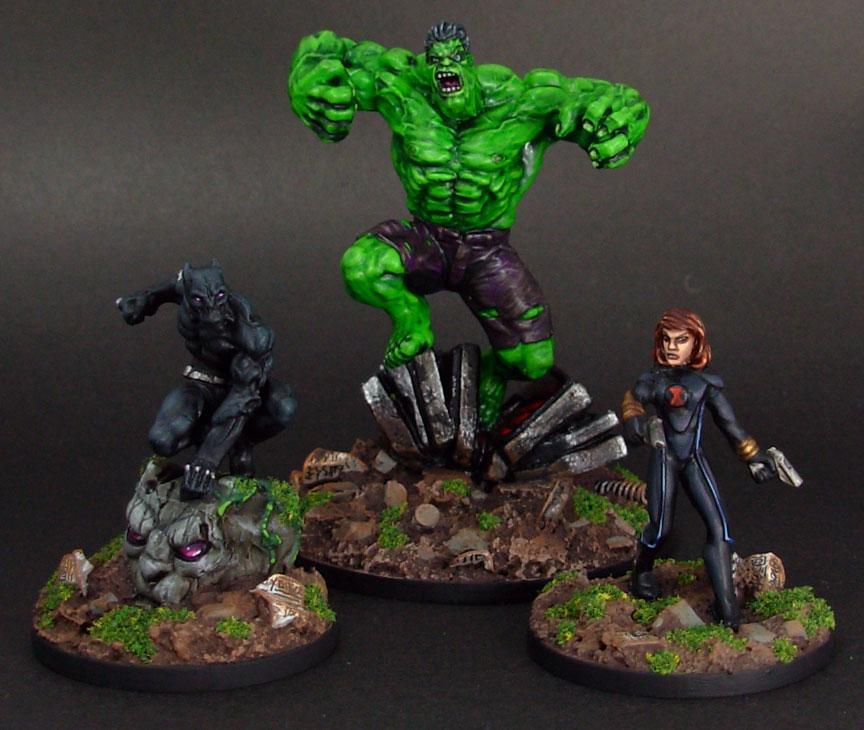 Black Panther, Black Widow, Heroclix, Hulk, Superhero