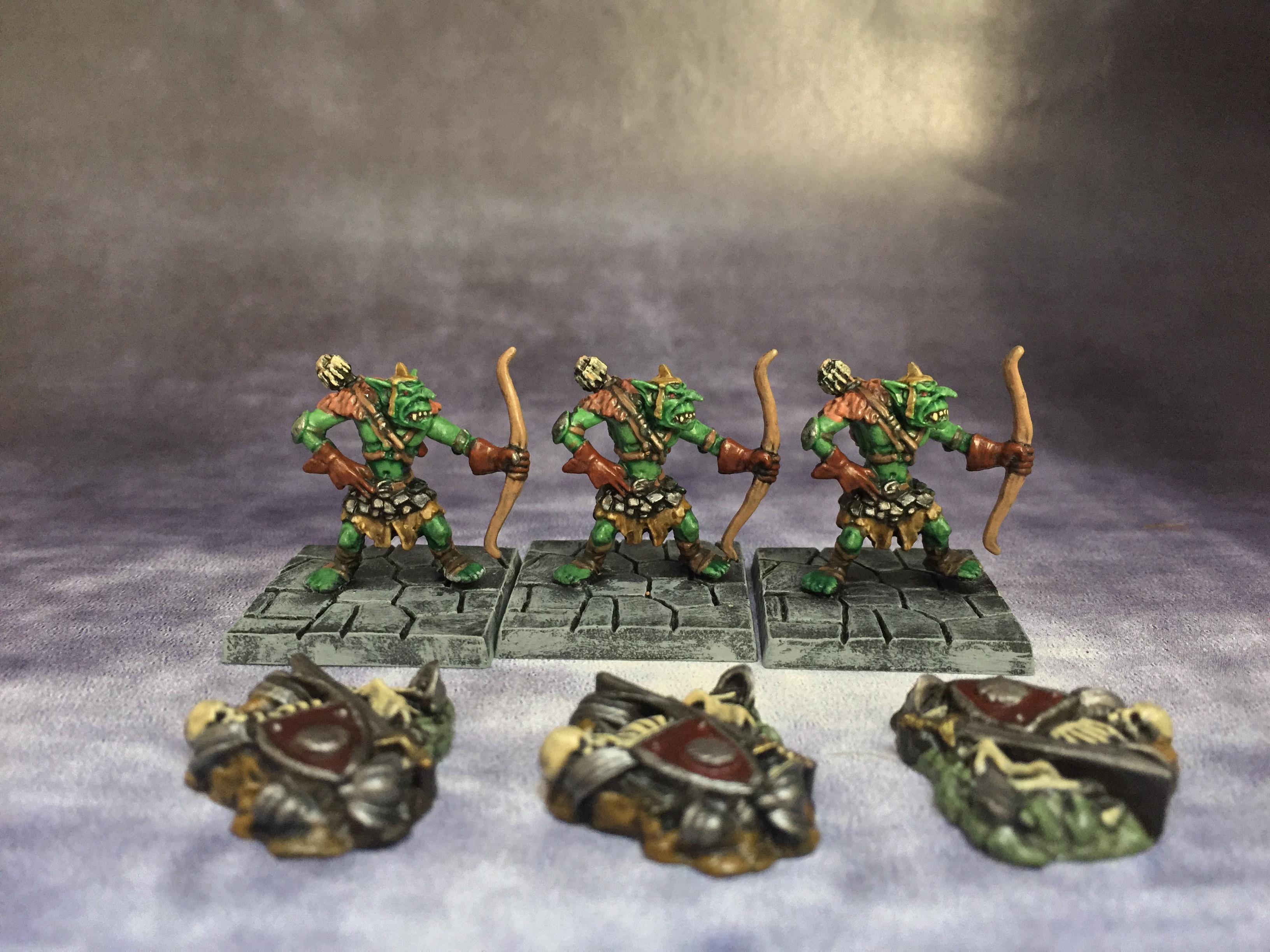 Archers, Bone Pile, Dungeon Saga, Goblins, June 2016, Mantic, Skeletons