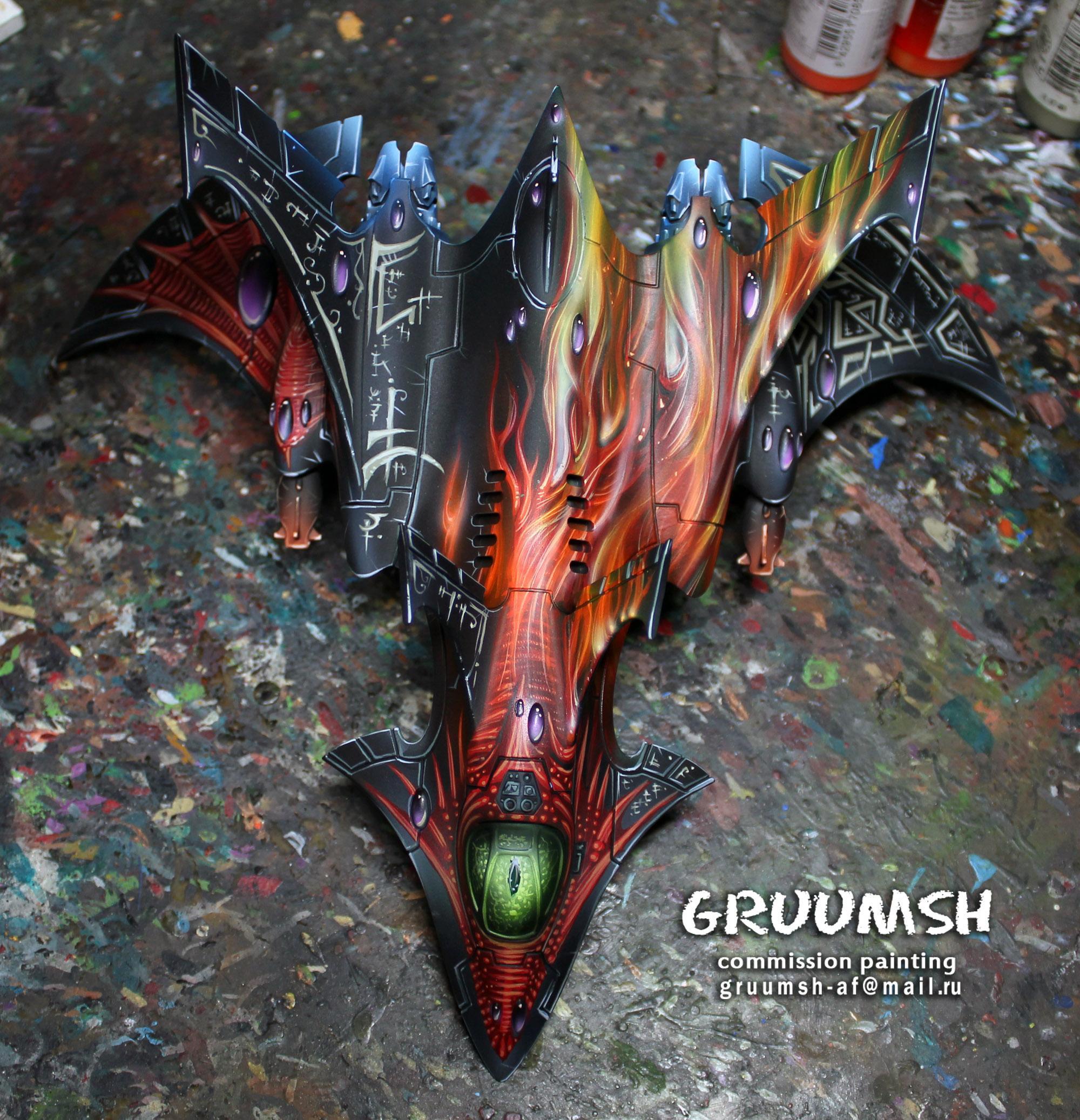 Crimson, Crimson Hunter, Cwe, Eldar, Flyer, Hunter, Pro-painted