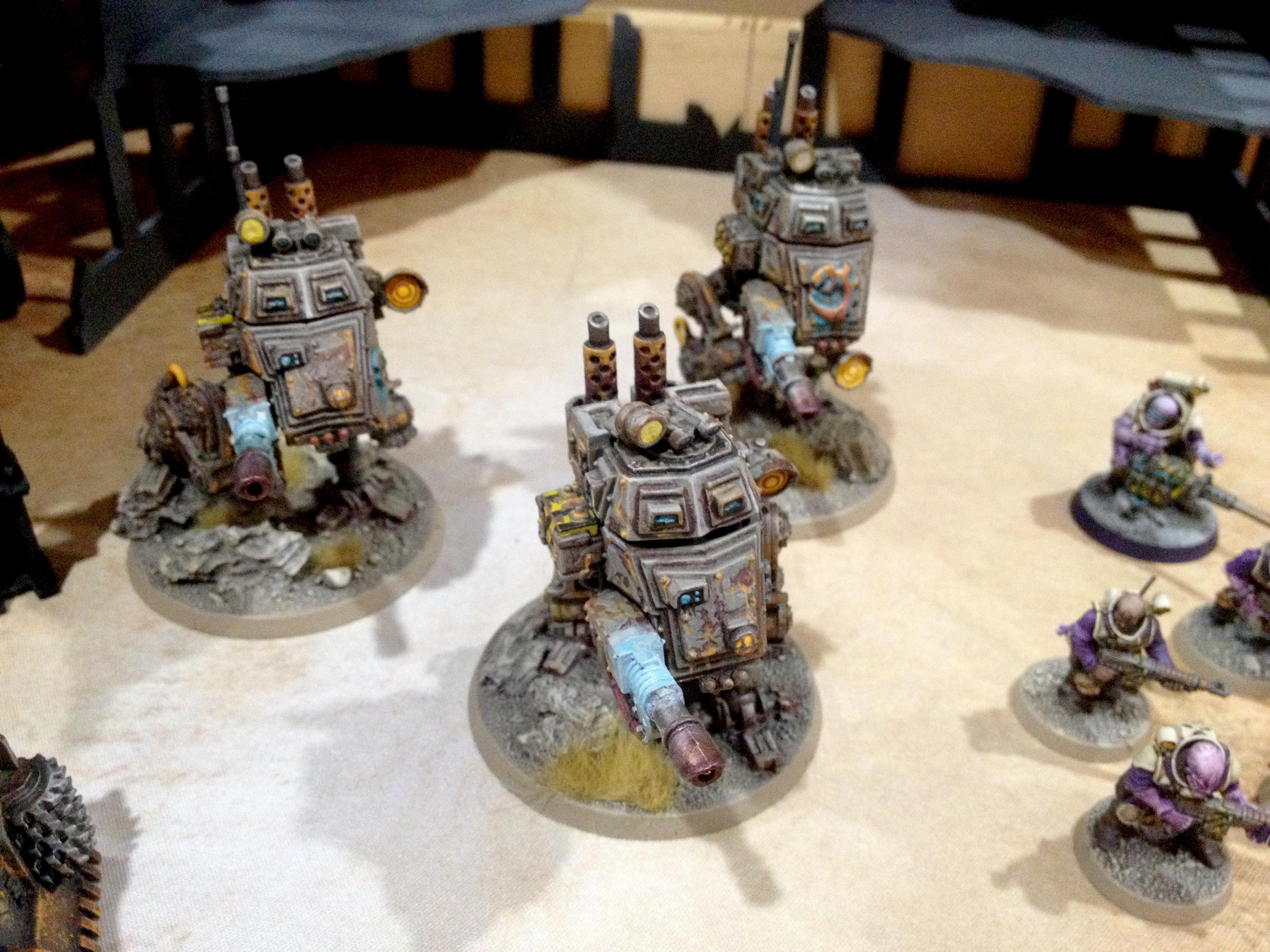 Armoured Sentinel, Brood Brothers, Genestealer, Genestealer Cult, Gsc, Sentinel, Warhammer 40,000, Weathered