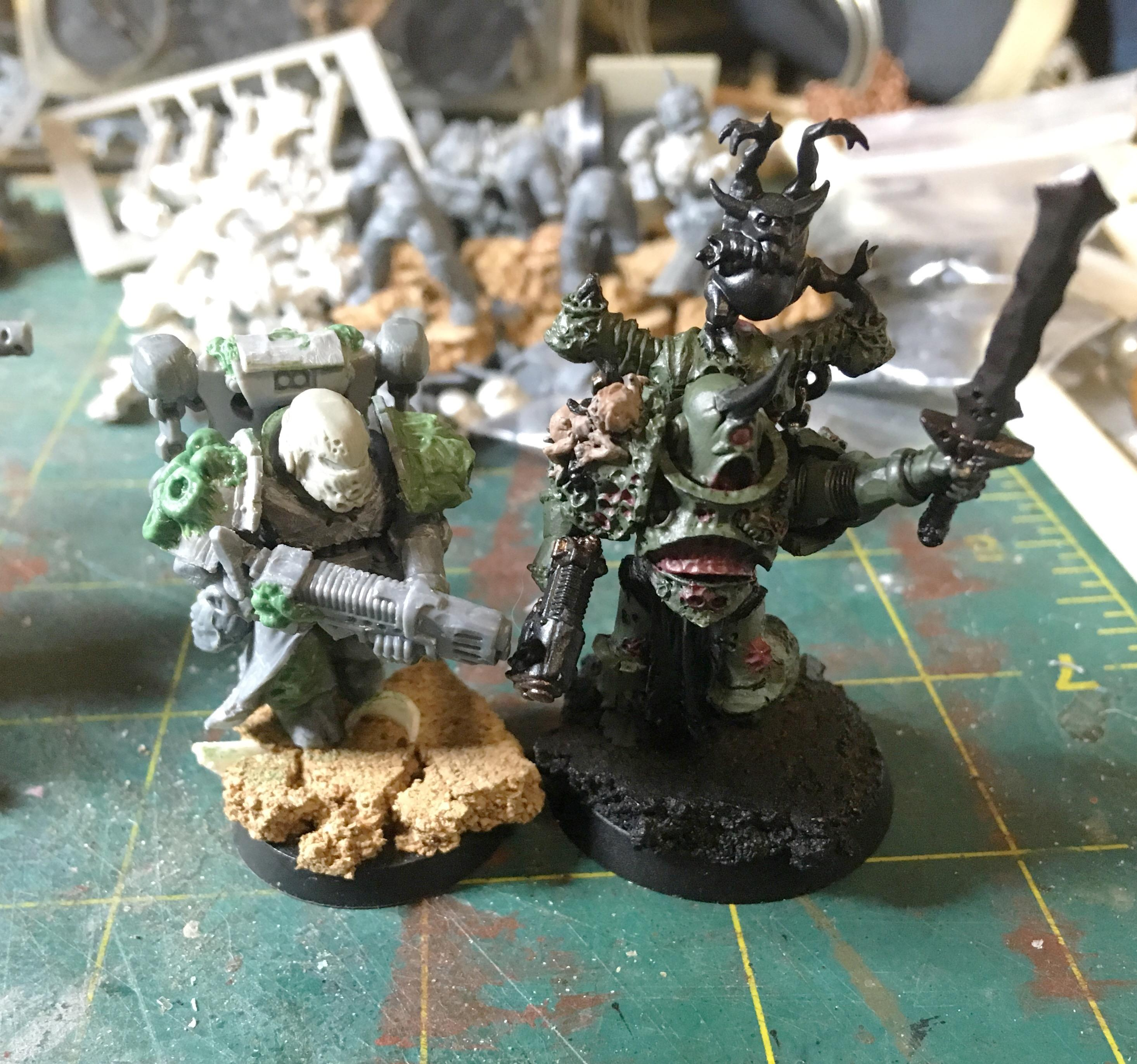 There's plenty of bits to make some Death Guard and other Chaos goodness