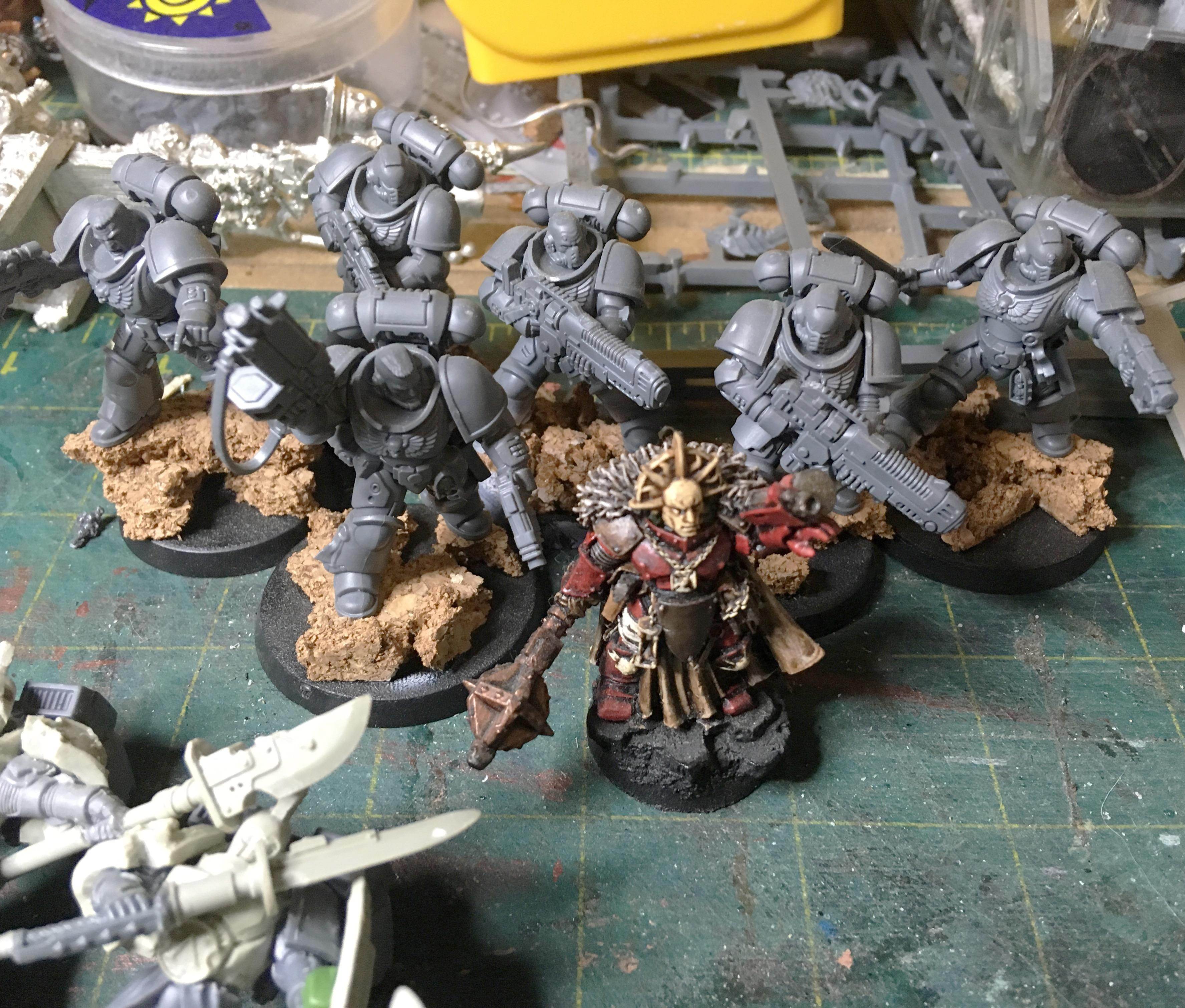 We have some Primaris Marines and other Marine characters. Could build up on them for some interesting results