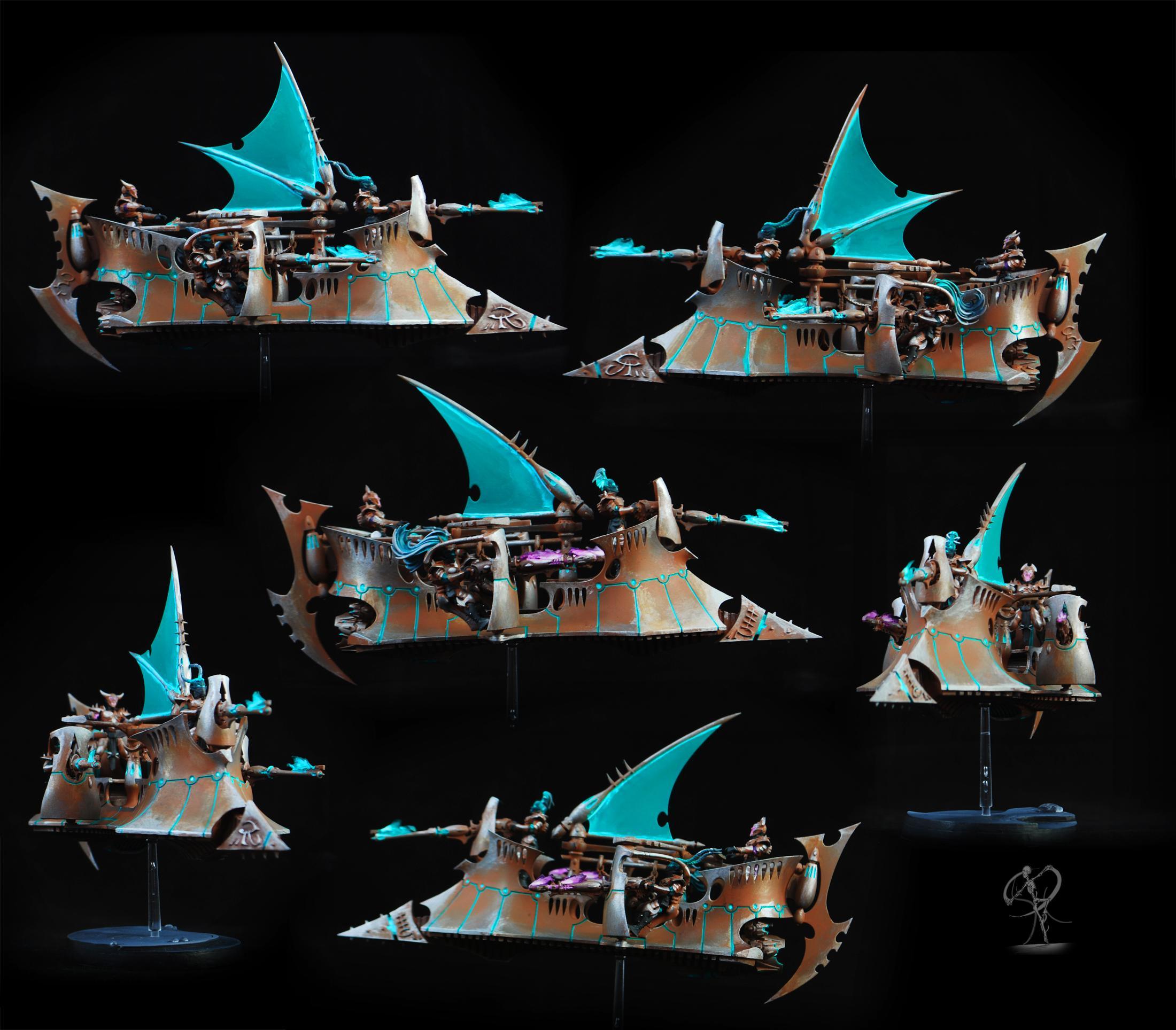 Dark Eldar, Drukhari, Eldar, Freehand, Mandrake, Object Source Lighting, Warhammer 40,000