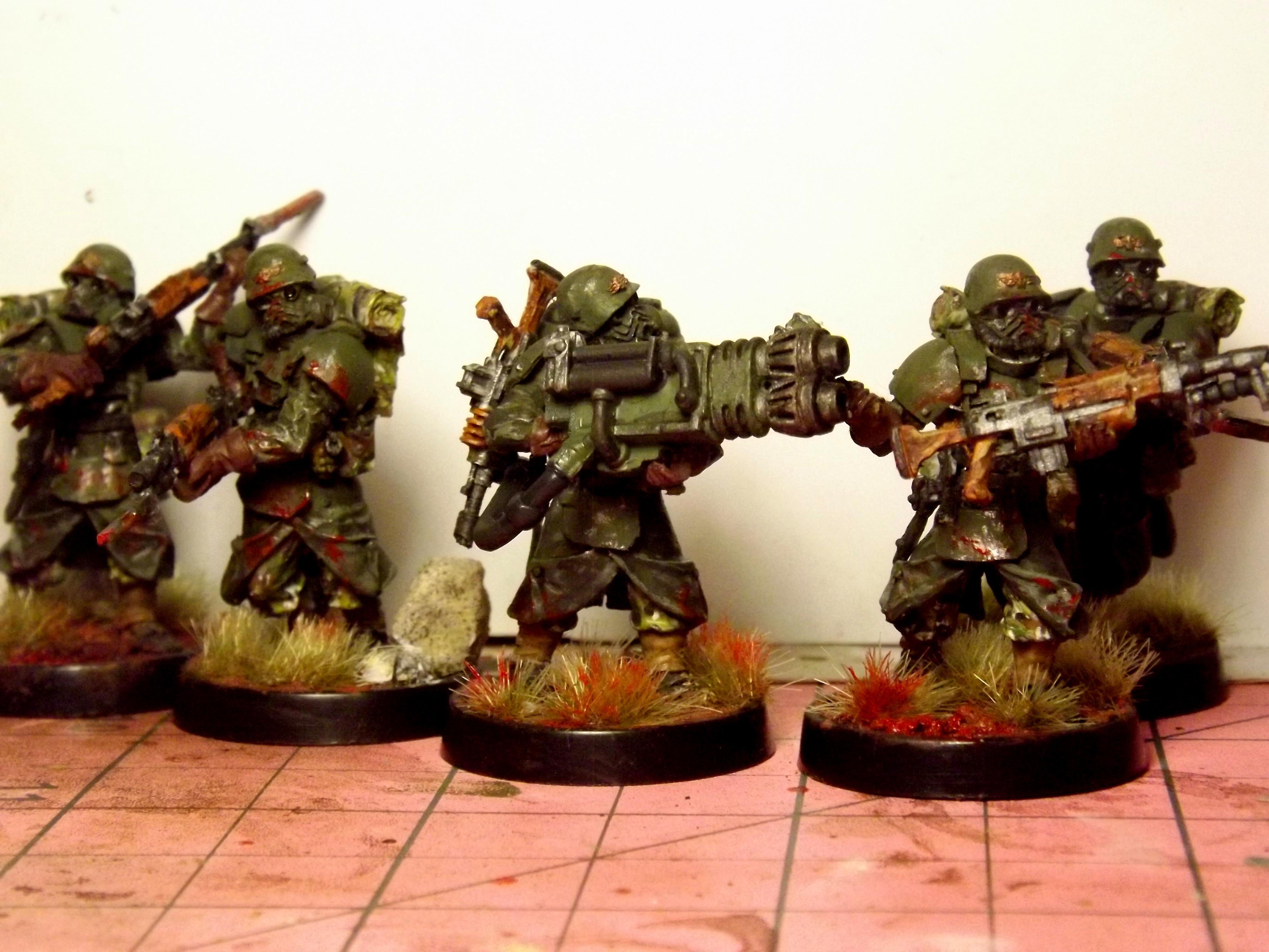 Assault Corp, Battle Lasers, Carapace Armour, Conversion, Greatcoats, Grenadiers, Guardsmen, Heavy Flamer, Heavy Flamer Conversion, Imperial Guard, Melee, Victoria Miniatures