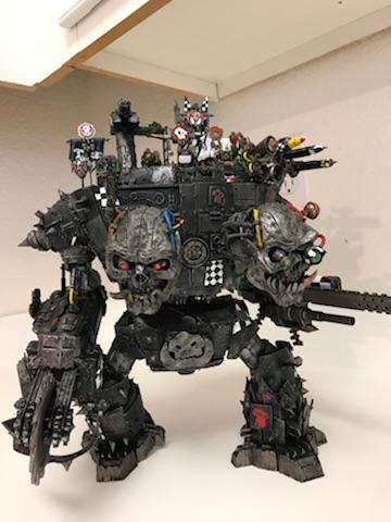 2, Gargant, Headed, Orks, Skull, Titan, Two, Walker