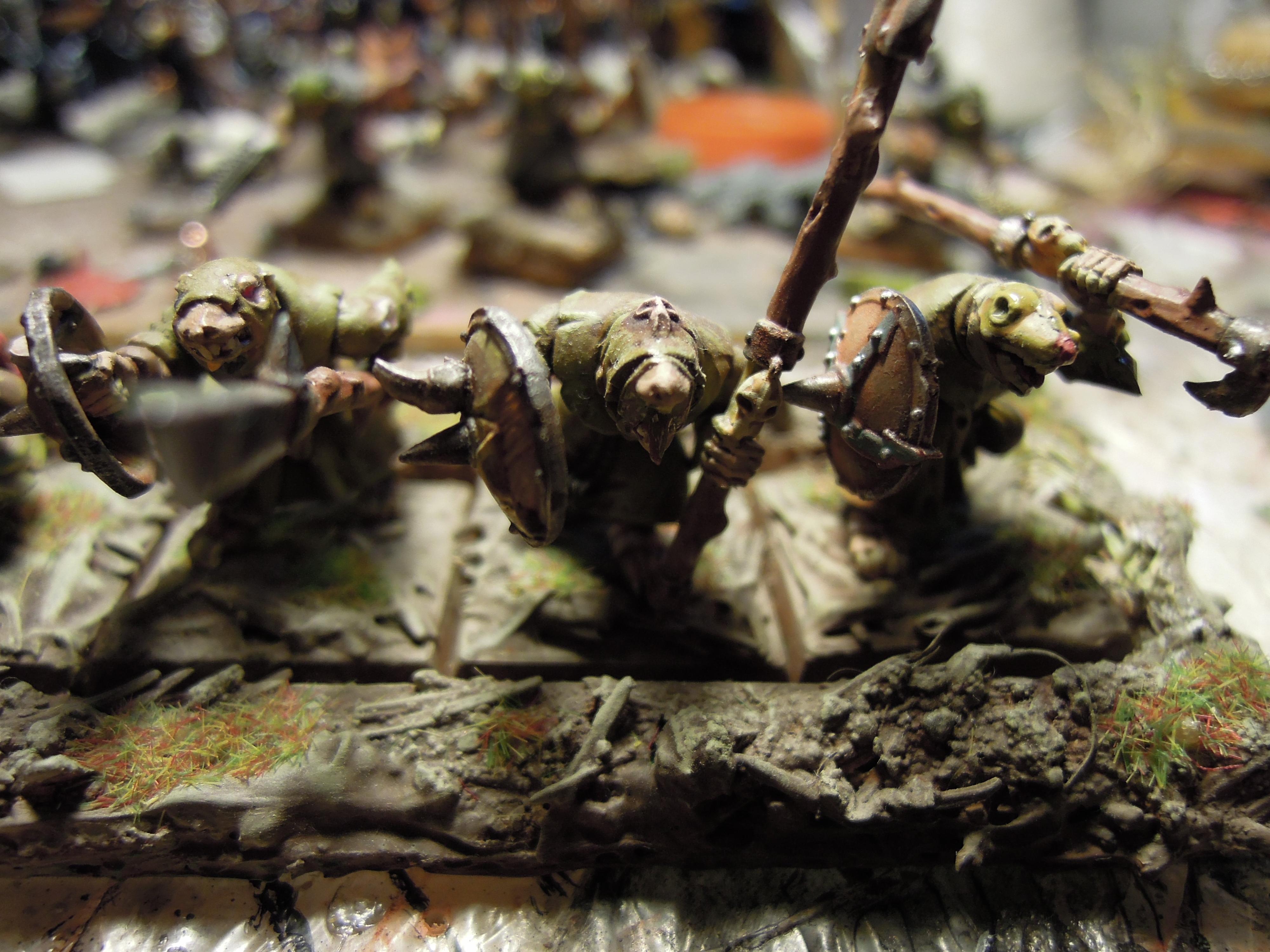 Age Of Sigmar, Chaos, Conversion, Pestilence, Plague, Plague Monks, Rats, Regiment, Shield, Skaven, Spear, Warhammer Fantasy