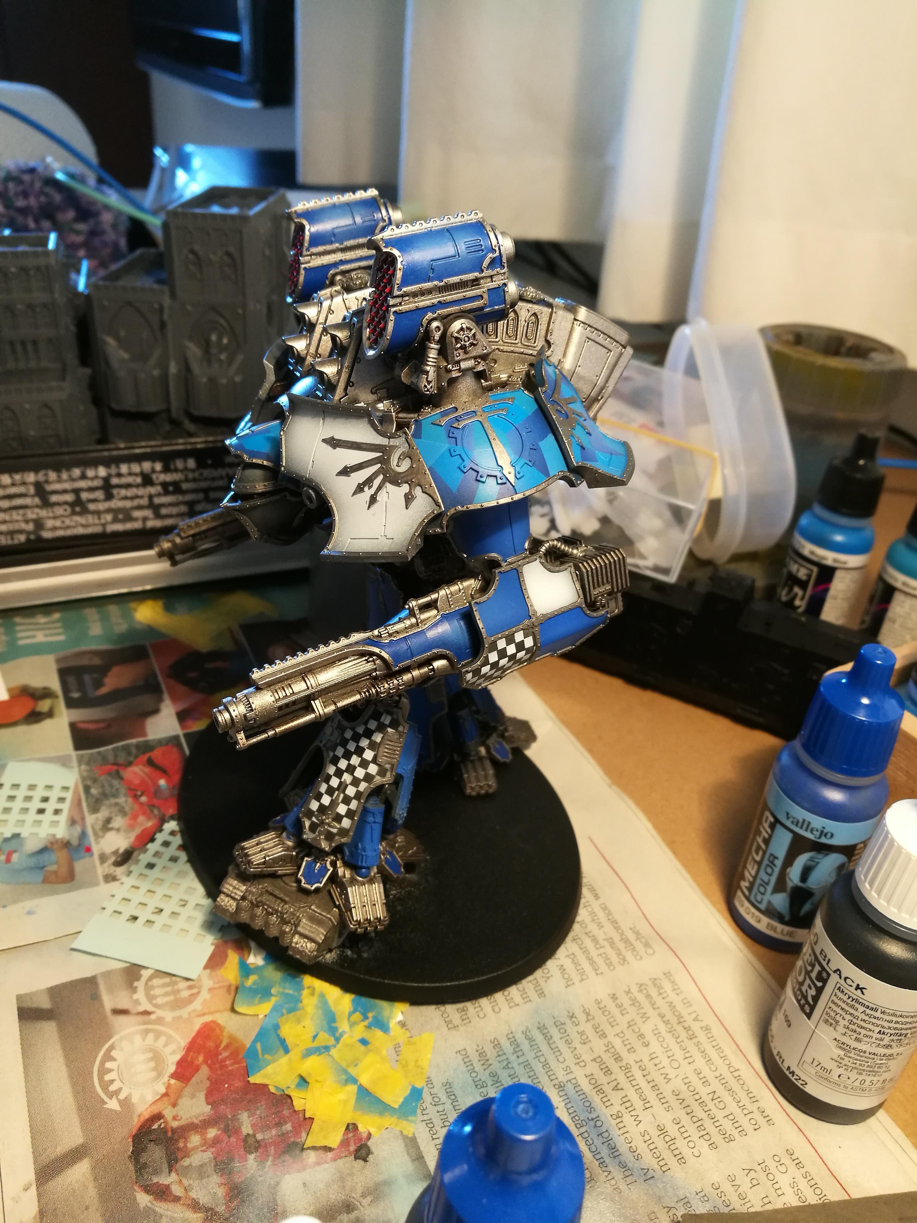 Warlord Titan for Adeptus Titanicus, painting in progress