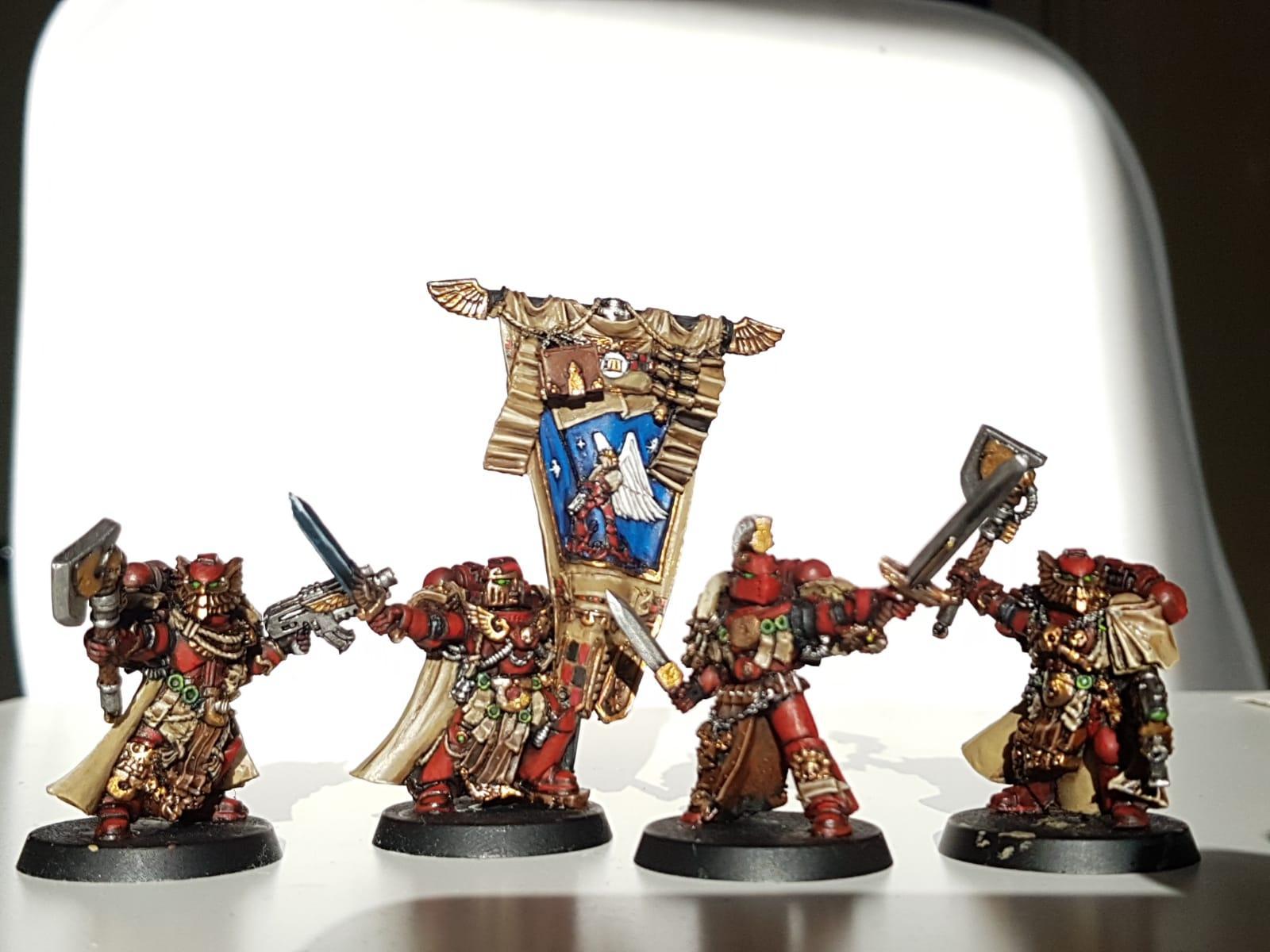 Blood Ravens, Chapter Ancient, Chapter Banner, Chapter Champion, Deadshot, Honour Guard