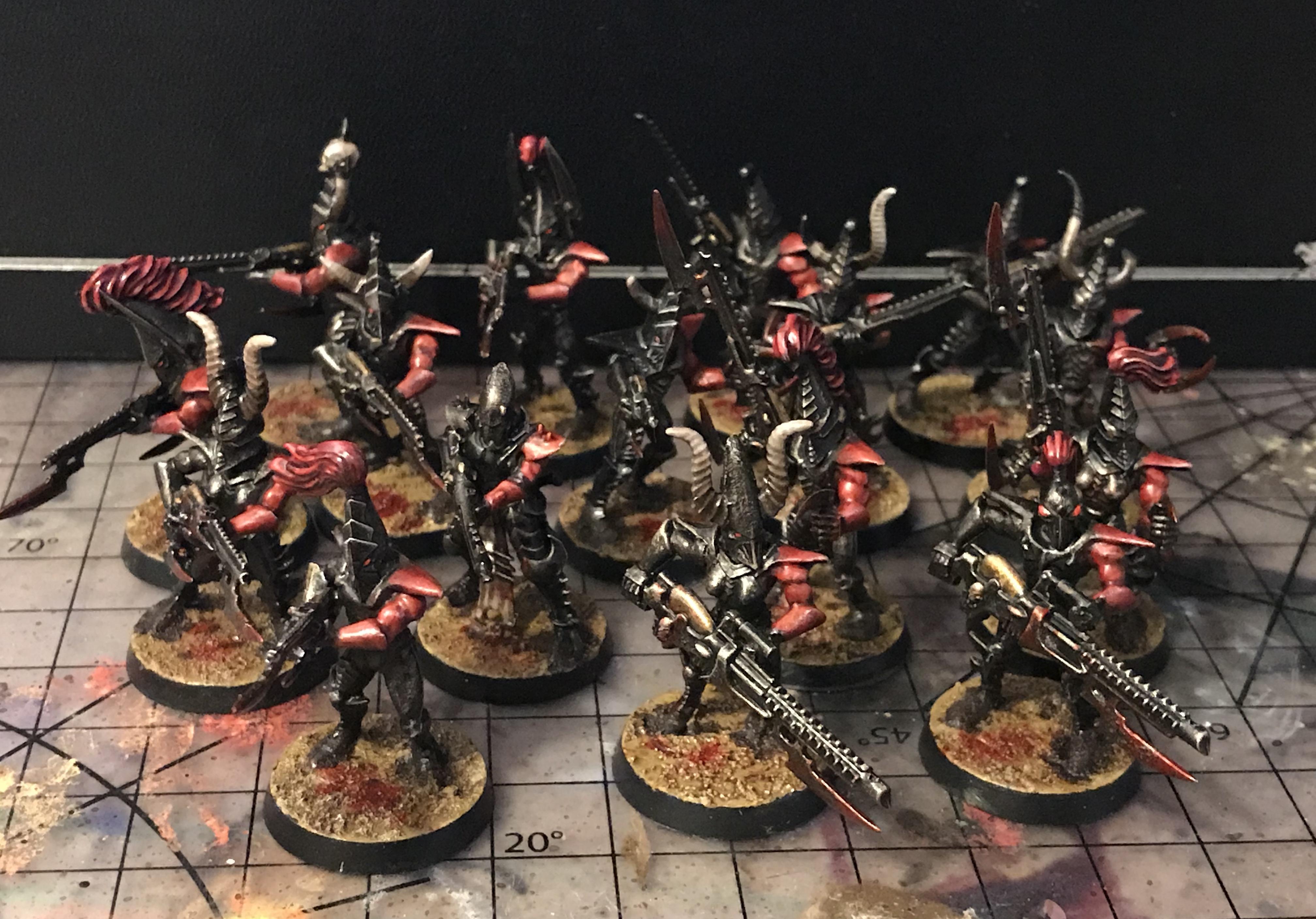 Battle, Colour Scheme, Corsairs, Dark, Darkness, Drukhari, Eldar, Elves, Grim, Horrors, Kabal, Kabalite, Raiders, Realspace, Red, Striking, Warhammer 40,000, Warhammer Fantasy, Warriors