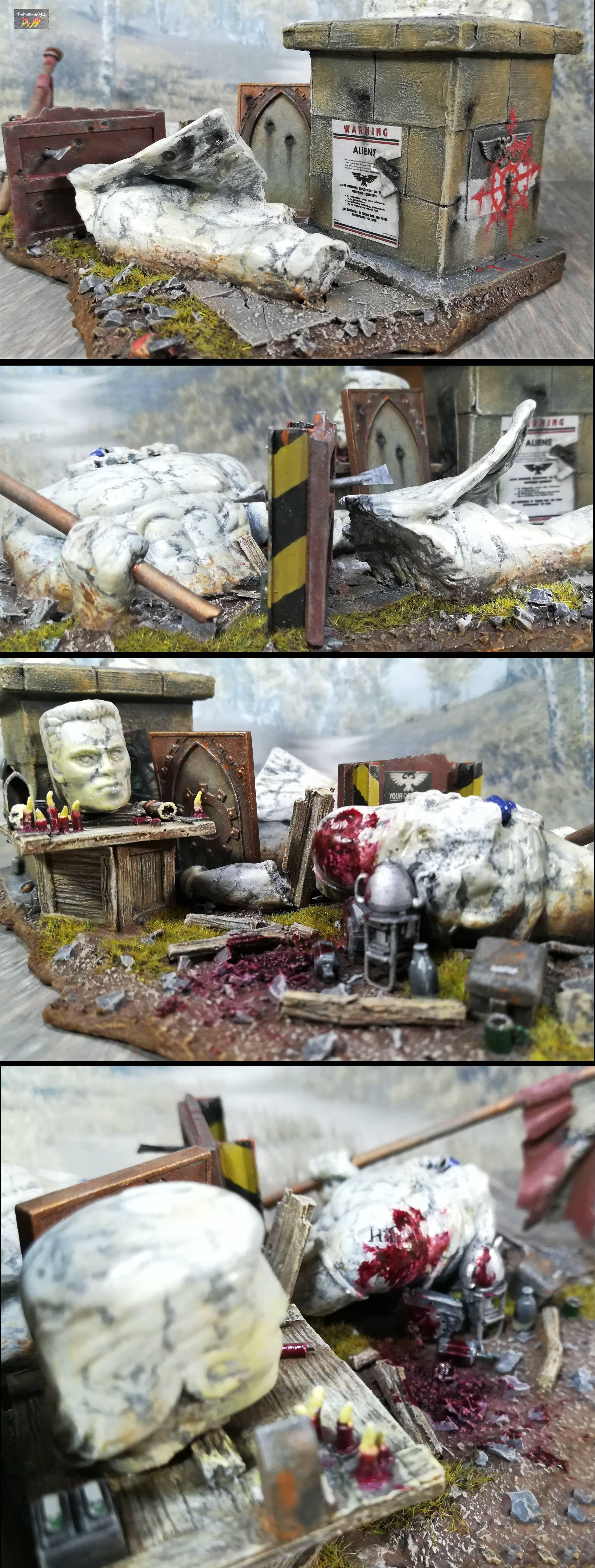 Broken Emperor statue 6