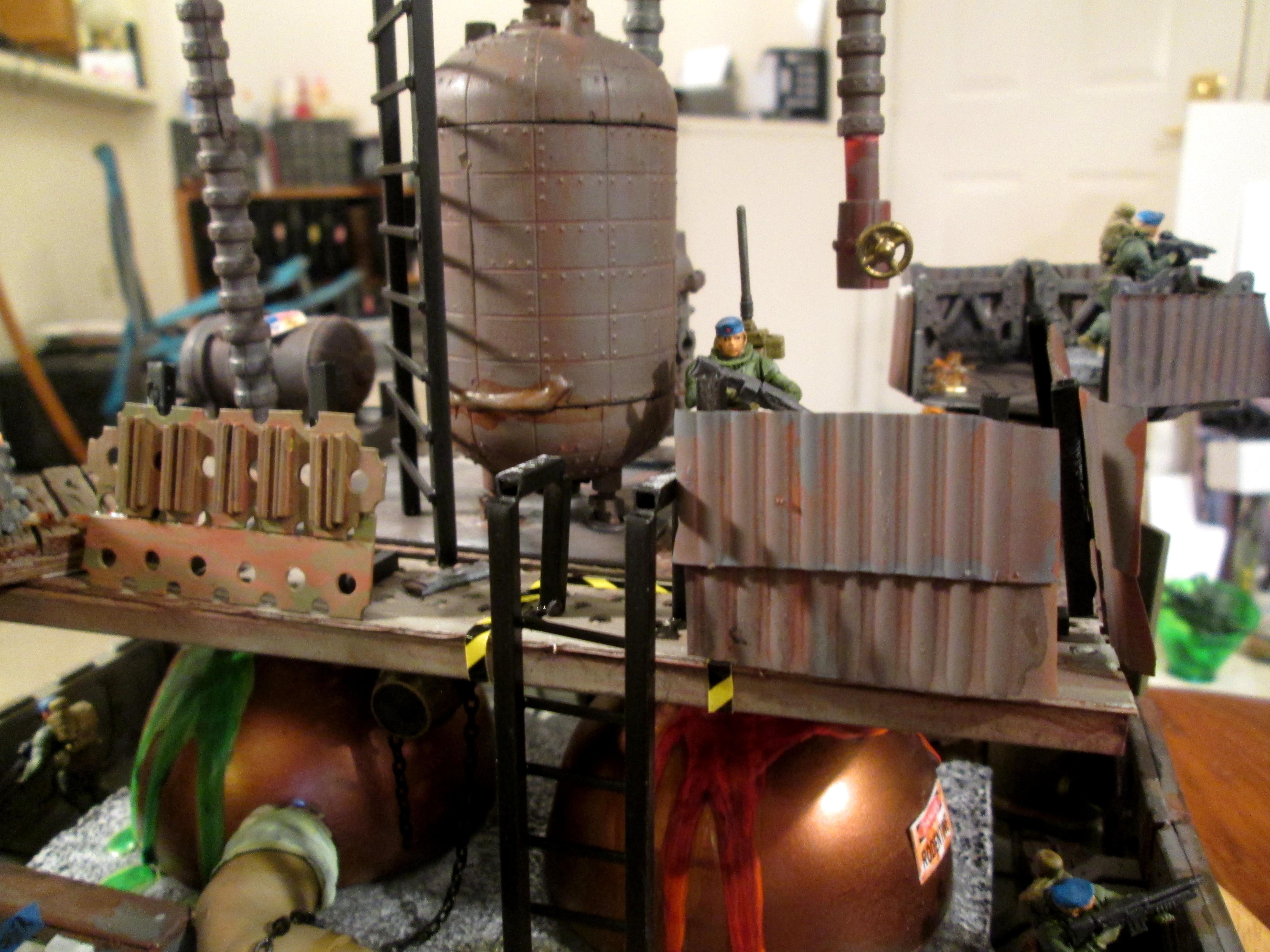 Industrial, Necromunda, Promethium, Terrain, Works