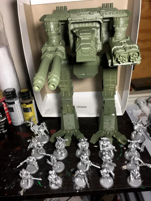 Iur_Tae_Mont's Wargaming Blog UPDATE 8/6 Warhound Titan 3d Print