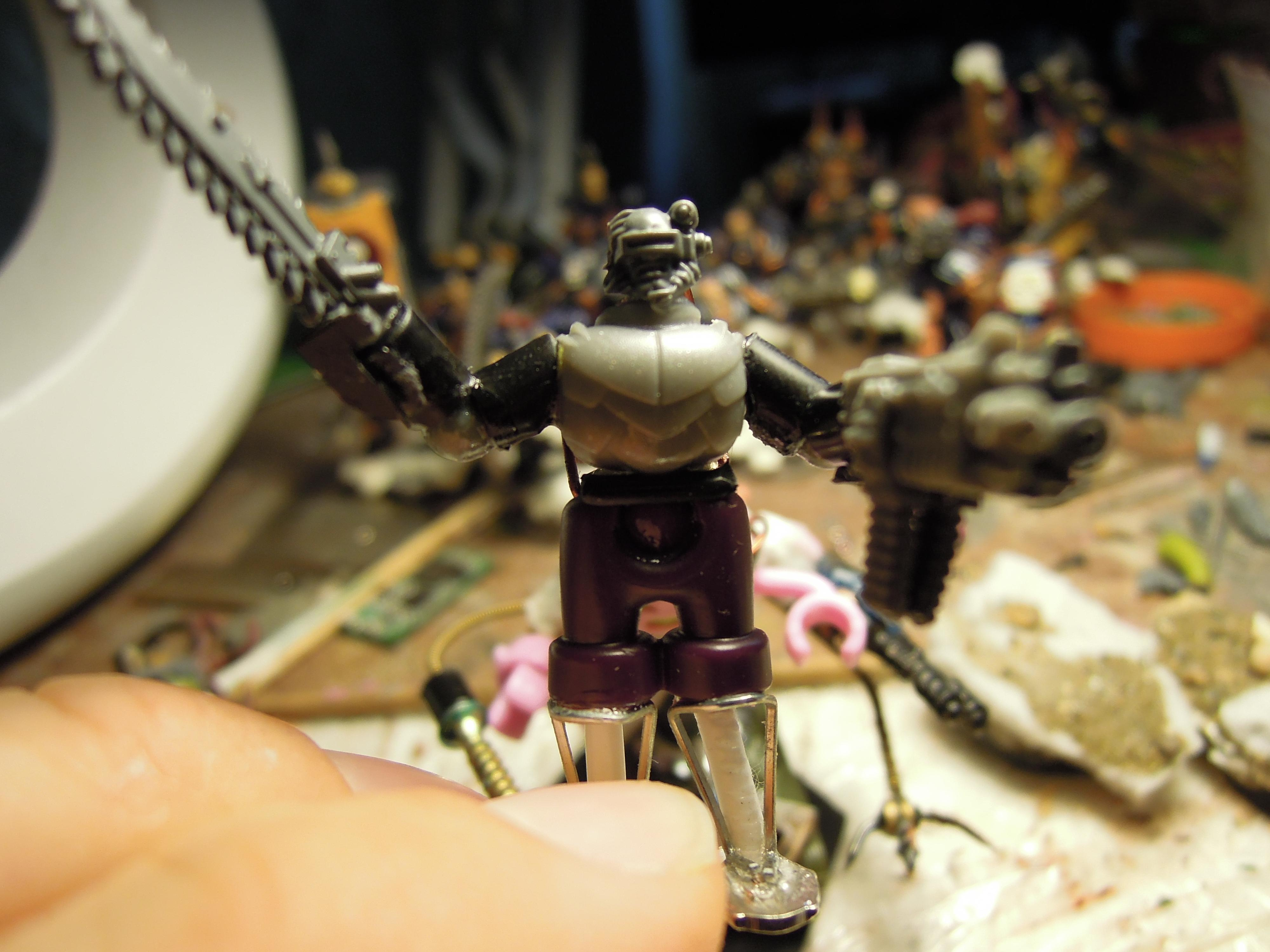 Admech, Bolter, Chainsword, Chaos, Conversion, Cyborg, Dark Mechanicus, Heresy, Kitbash, Retinue, Scratch Build, Servitors, Strogg, Warhammer 40,000