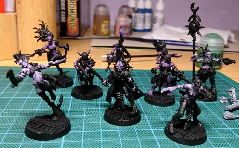 Chaos, Conversion, Cultists, Kill Team, Kit Bashing, Slaanesh, Warhammer 40,000, Work In Progress
