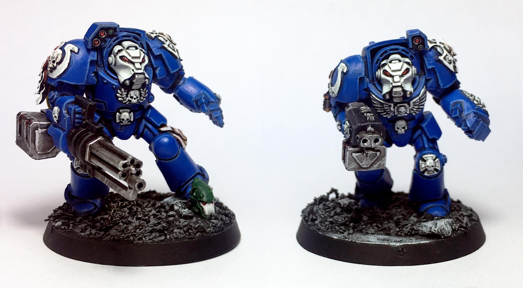 Adeptus Astartes, Space Marines, Squad, Terminator Armor, Ultramarines, Warhammer 40,000