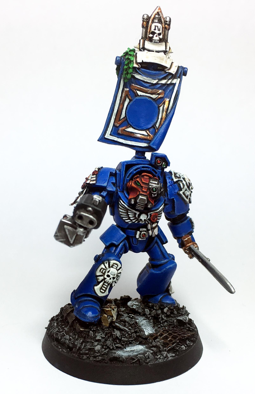 Adeptus Astartes, Captain, Space Marines, Squad, Terminator Armor, Ultramarines, Warhammer 40,000