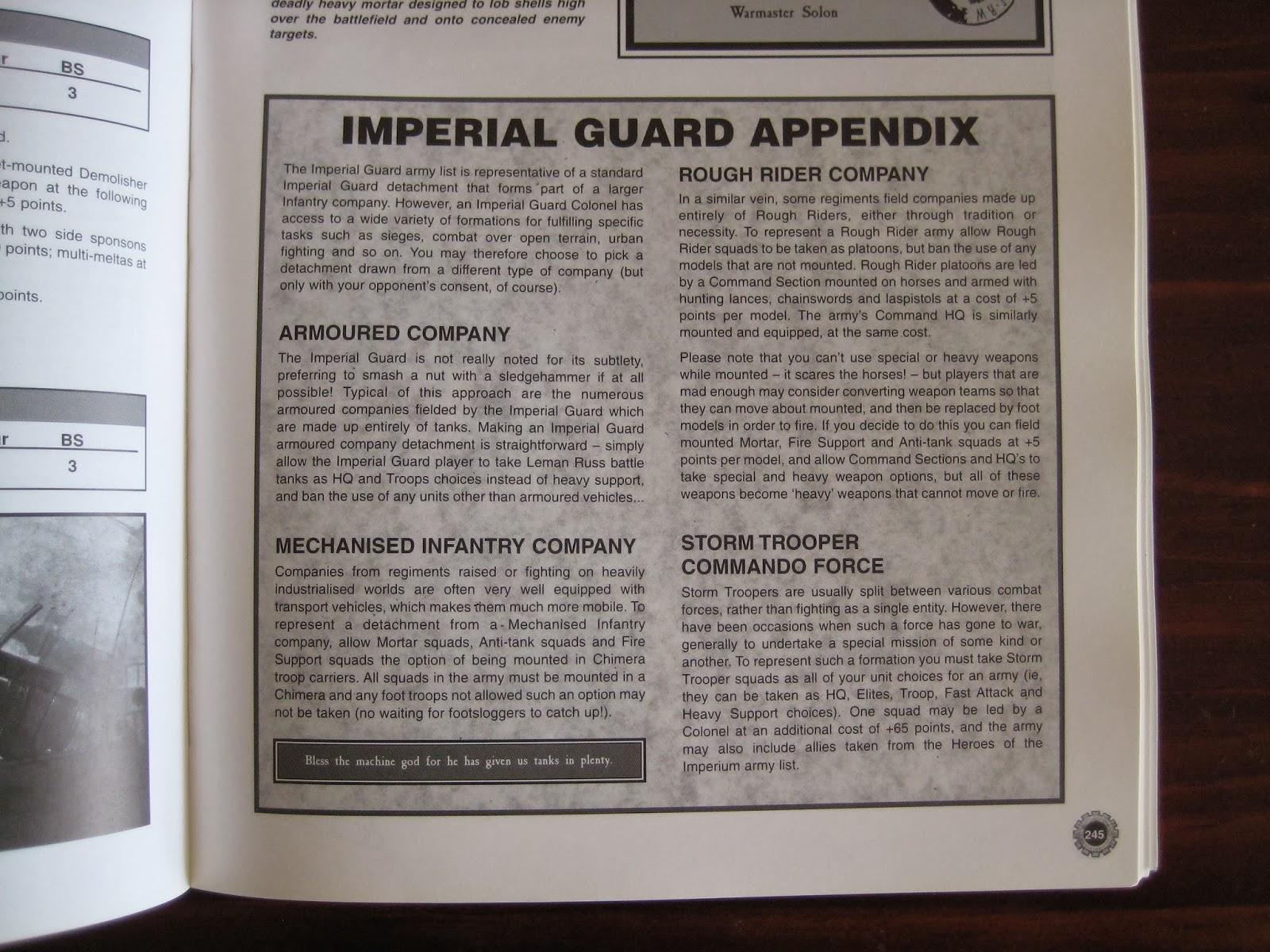 Company, Imperial Guard, Warhammer 40,000