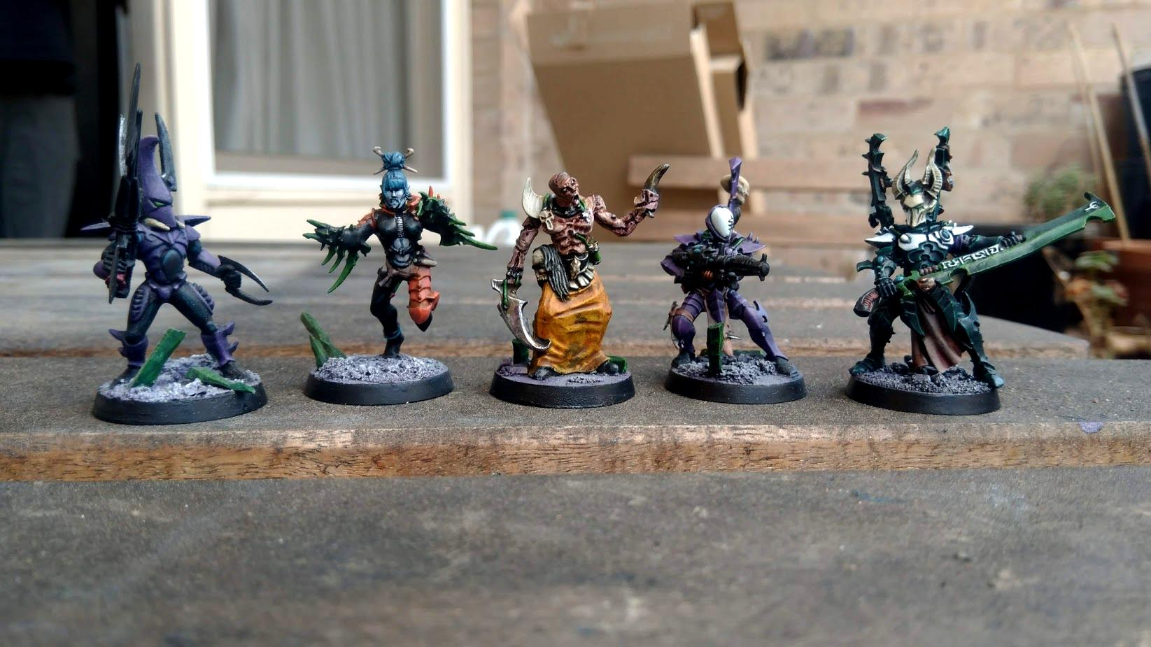 Dark Eldar, Grotesques, Haemonculi, Incubi, Kabalite Warriors, Wracks, Wyches