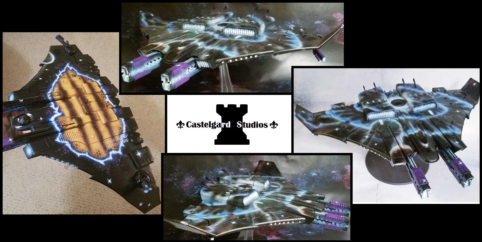 Airbrush, Castelgard Studios, Flyer, Lord Of War, Railcannon, Railgun, Space, Super-heavy, T'au, Tau, Tigershark, Warhammer 40,000