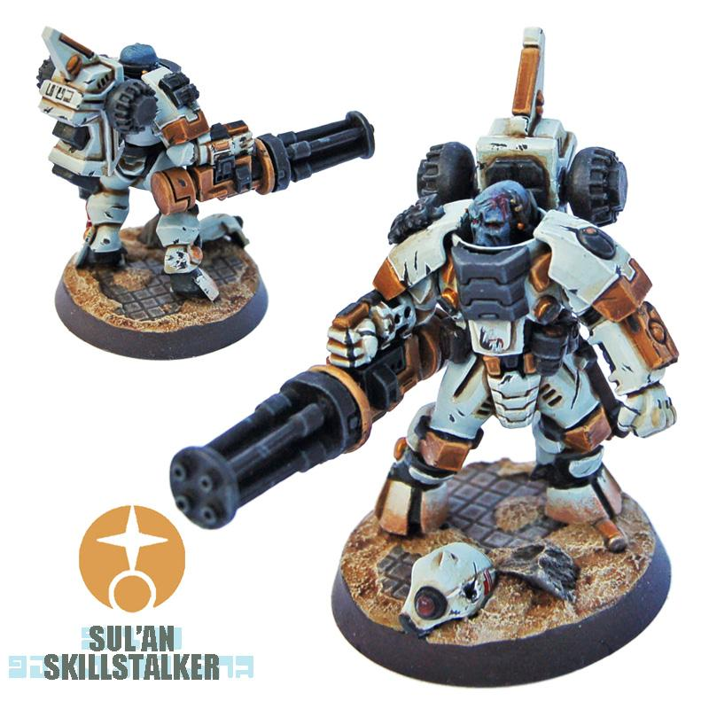 Battlesuit, Burst Cannon, Conversion, Kill Team, Stealthsuit, Tau, Tau Empire, Veteran, Warhammer 40,000