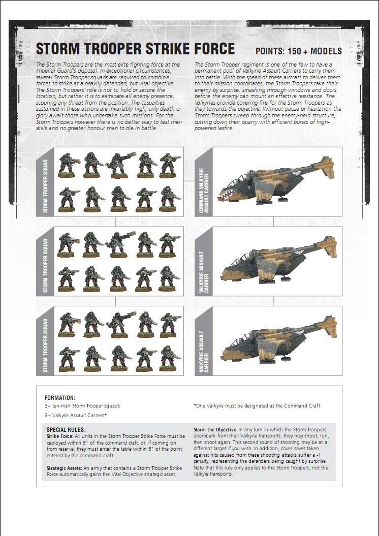 Astra Militarum, Imperial Guard, Strike Force, Strom Trooper, Valkyrie
