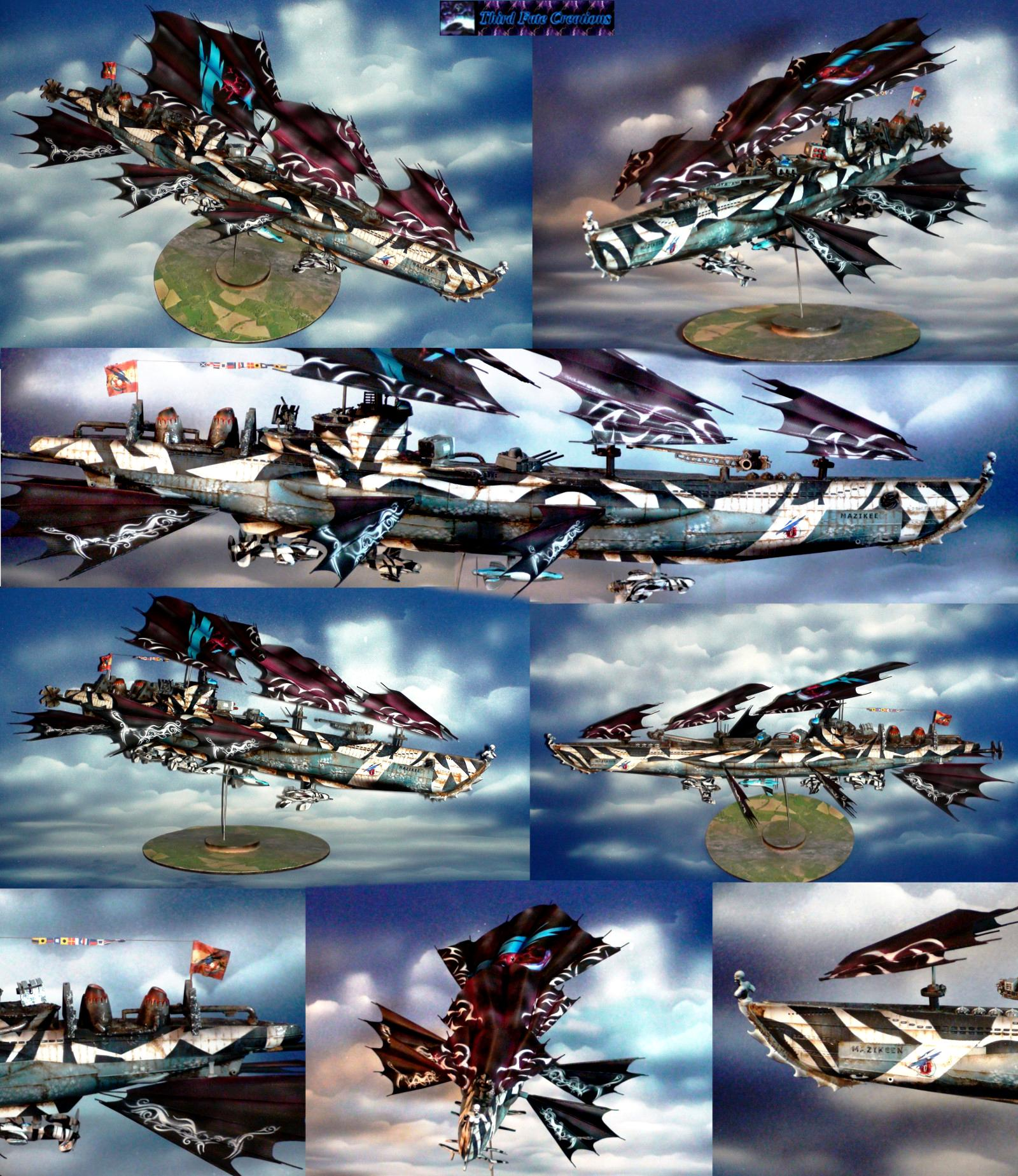 Airbrush, Airship, Crimson, Crimson Skies, Dieselpunk, Final Fantasy, Pulp, Skies, Thirdfatecreations