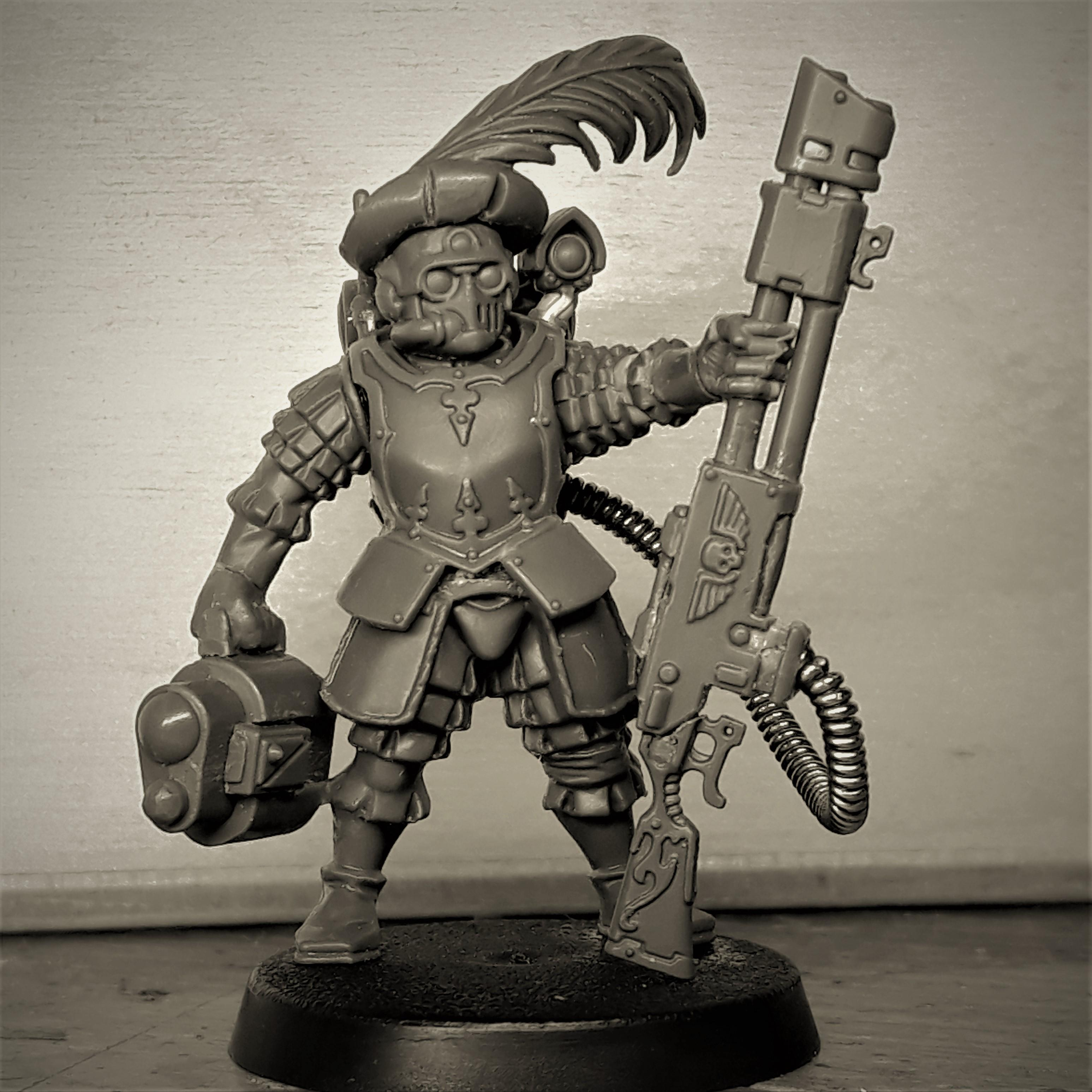 Astra Militarum, Conversion, Hat, Imperial Guard, Kill Team, Kitbash, Scions, Snipers, Warhammer 40,000